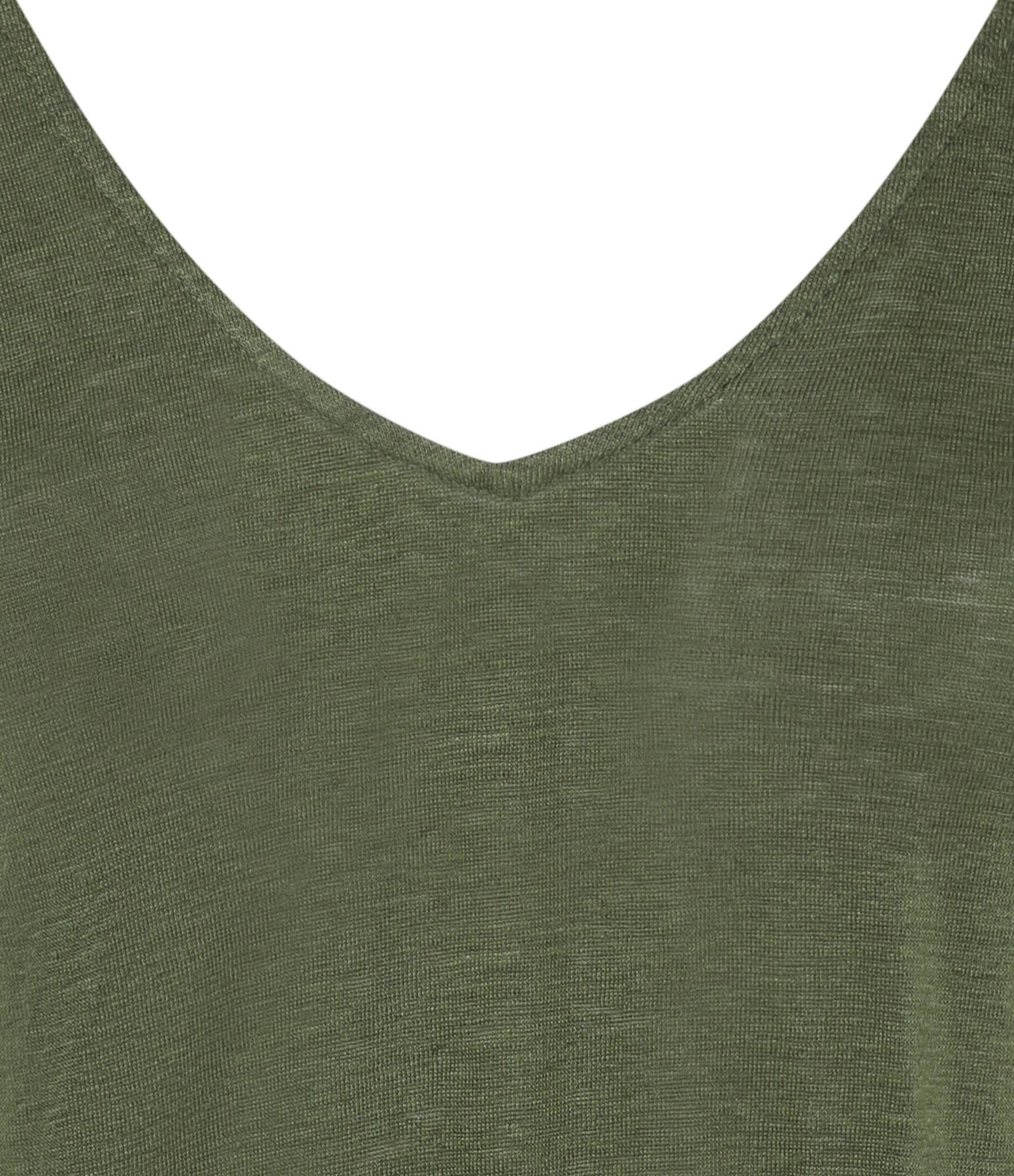 MAJESTIC FILATURES - Tee-shirt Col V Kaki