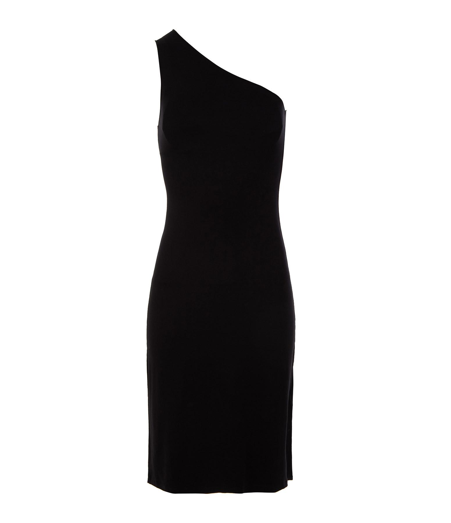 MAJESTIC FILATURES - Robe Asymétrique Noir