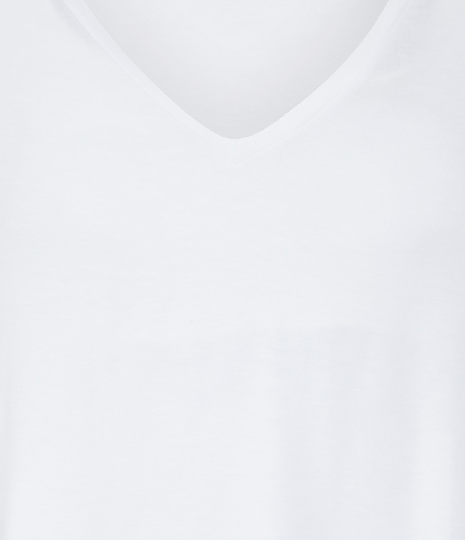 MAJESTIC FILATURES - Tee-shirt Col V Blanc