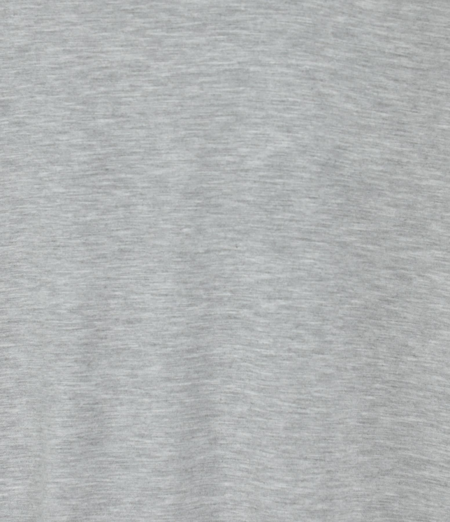 MAJESTIC FILATURES - Tee-shirt Col V Gris Chiné Clair
