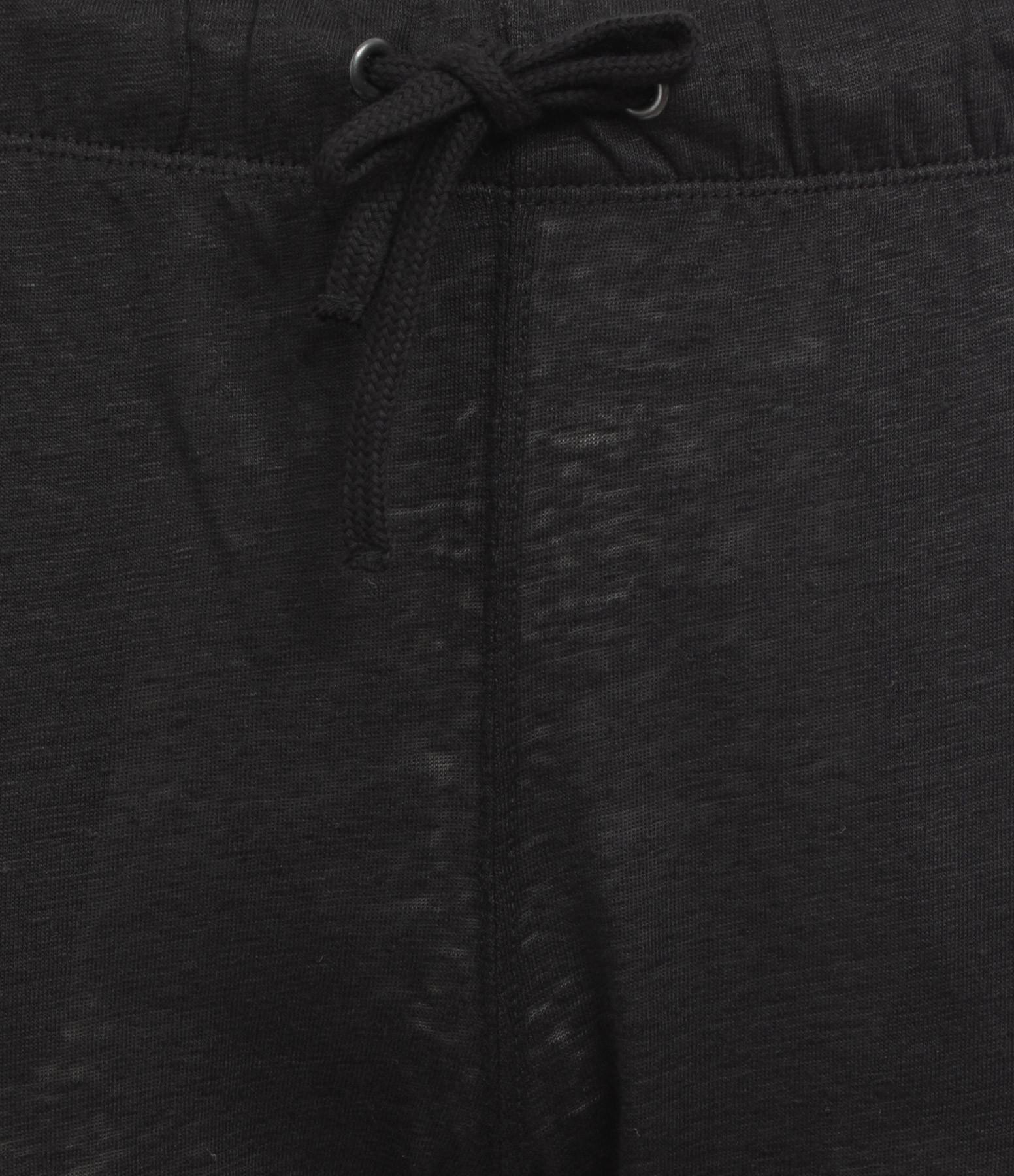 MAJESTIC FILATURES - Pantalon Lin Noir