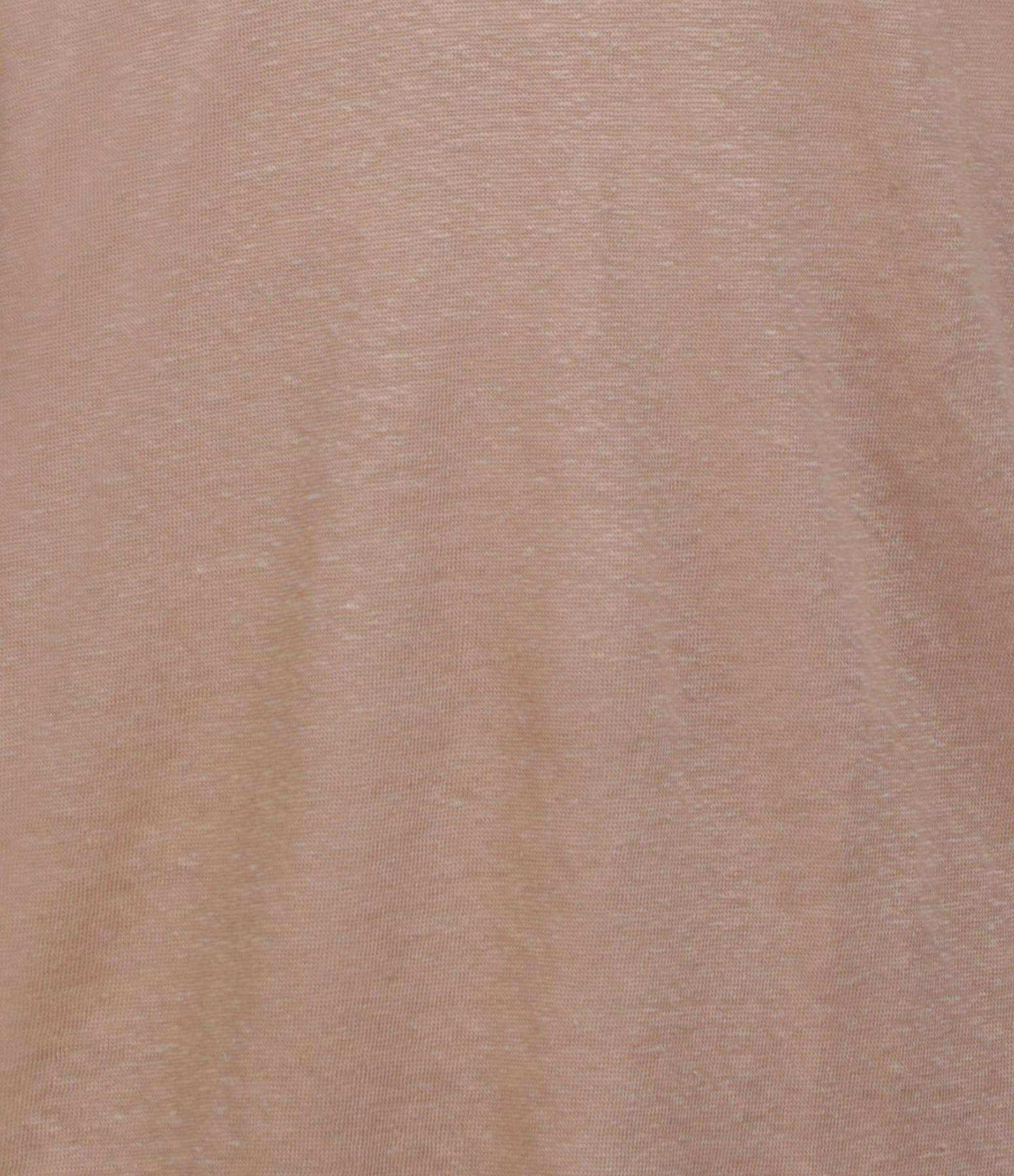 MAJESTIC FILATURES - Tee-shirt  Dos Décolleté Lin Ficelle