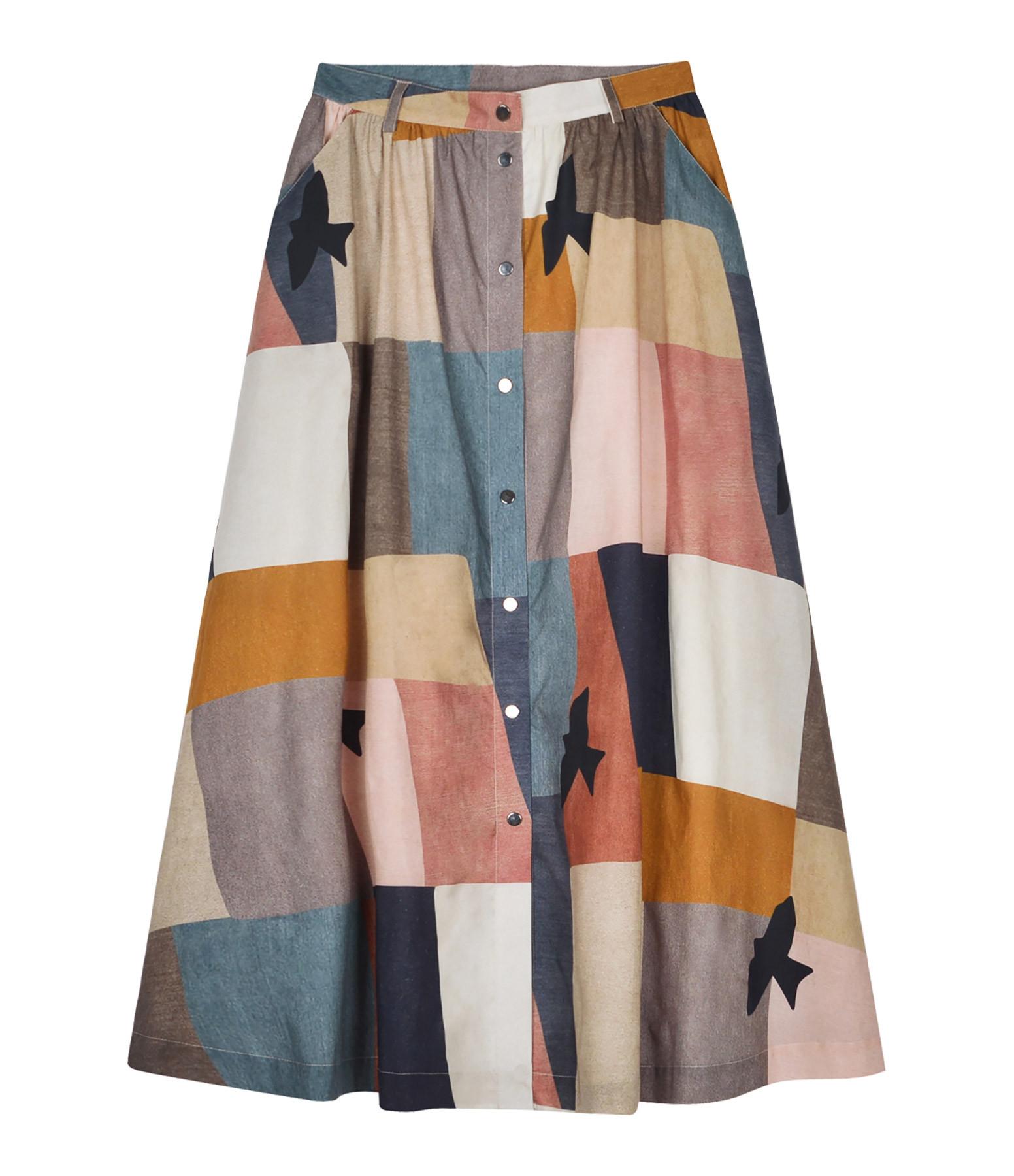 VALENTINE GAUTHIER - Jupe Manille Coton Biologique Modernism Imprimé