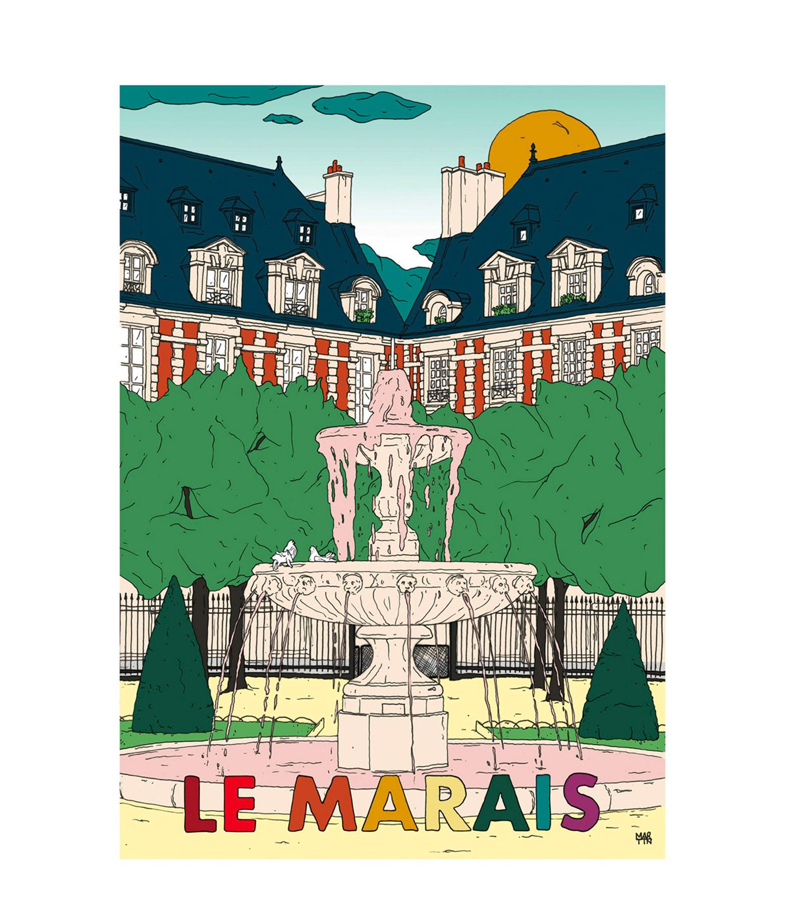 MAISON SARAH LAVOINE - Affiche Le Marais 50x70cm