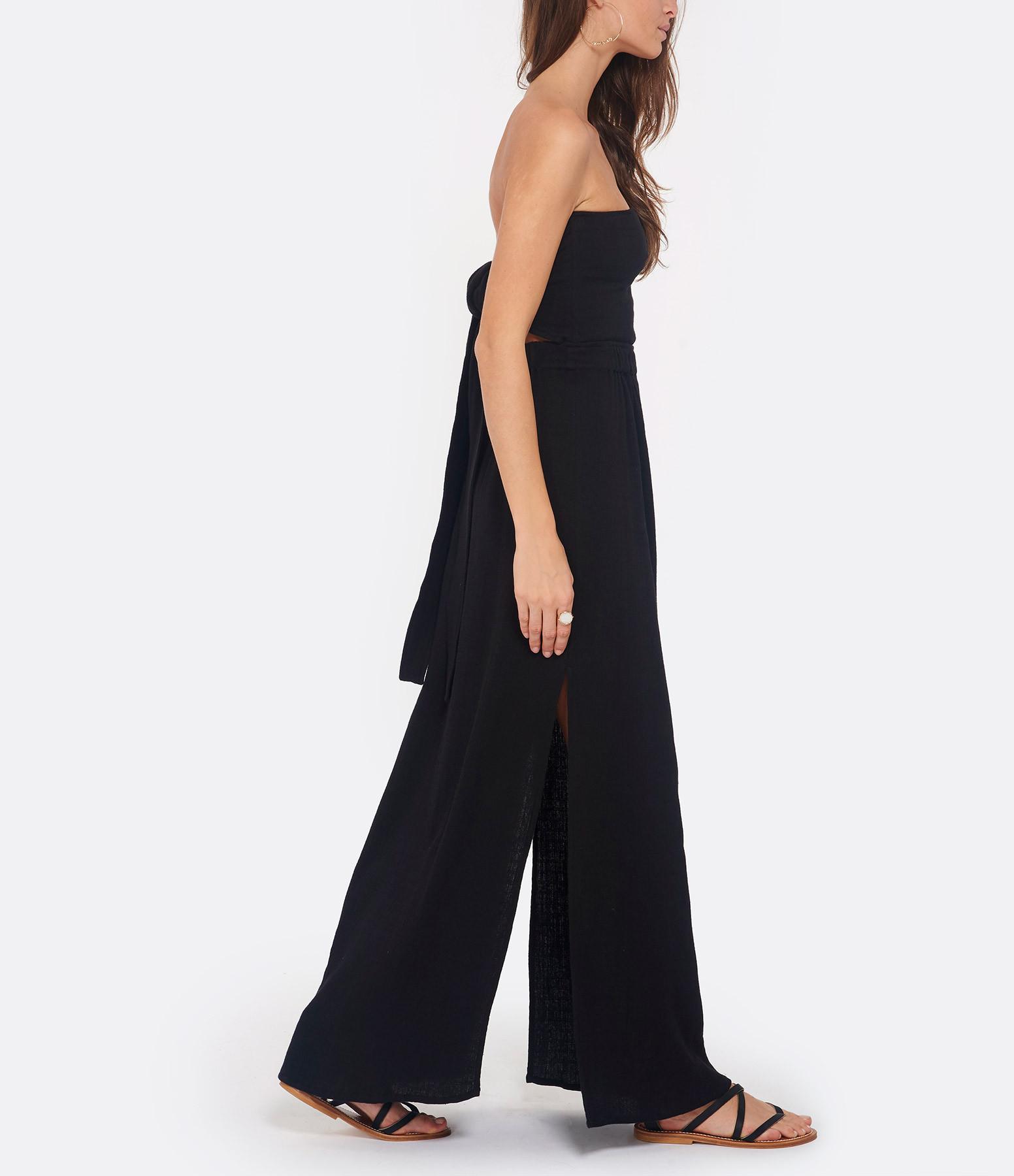 Robe Noir Longue Coton Hanita Misty sthQrCodxB