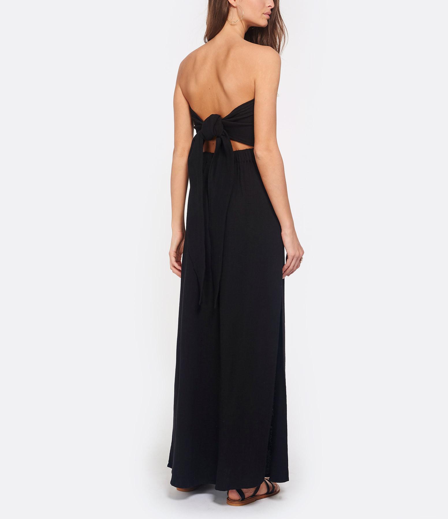 MAREDIL - Robe Longue Hanita Misty Coton Noir