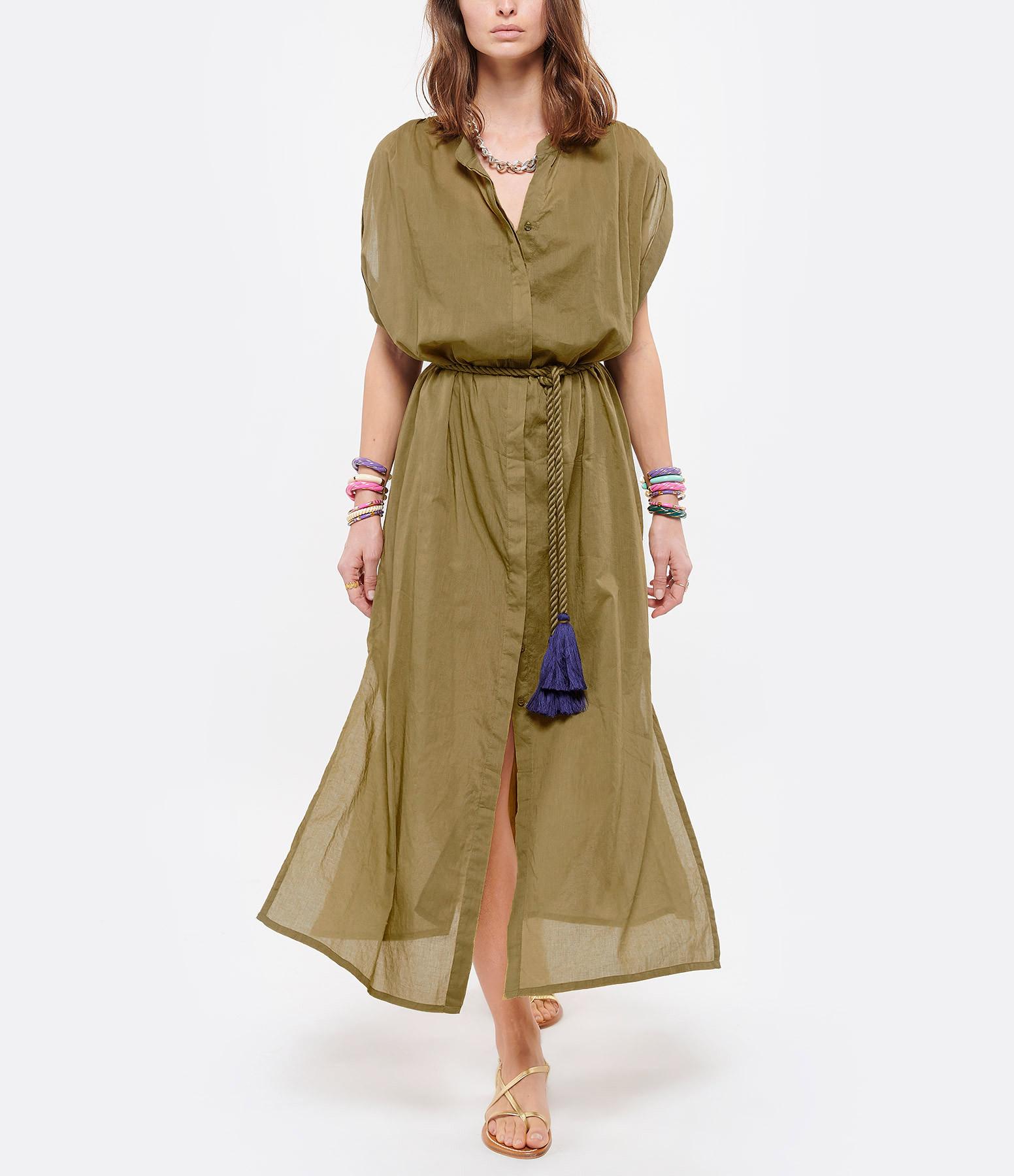 MARE DI LATTE - Robe Helena Coton Vert