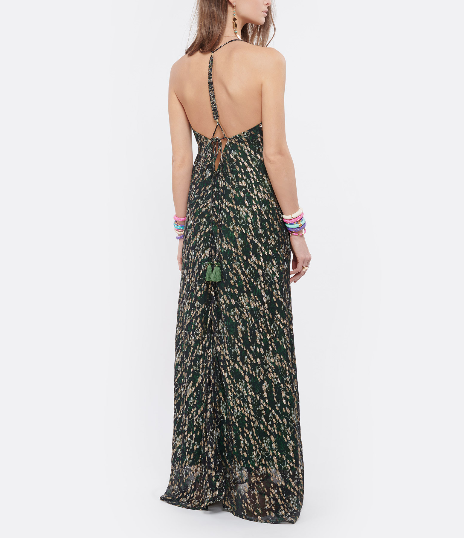MARE DI LATTE - Robe Isabella Lurex Imprimé Floral