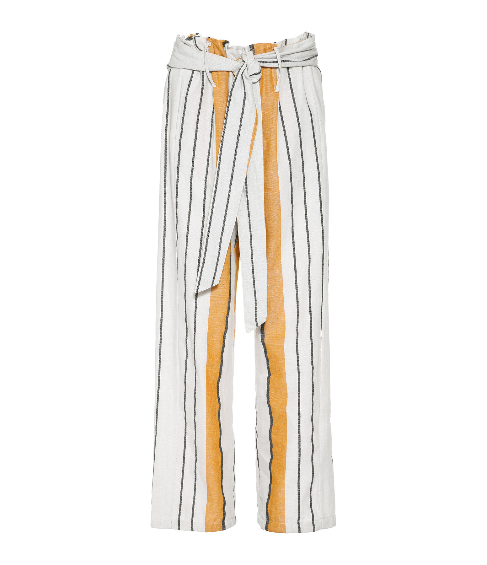 MARE DI LATTE - Pantalon Felice Arizona Rayures Jaune