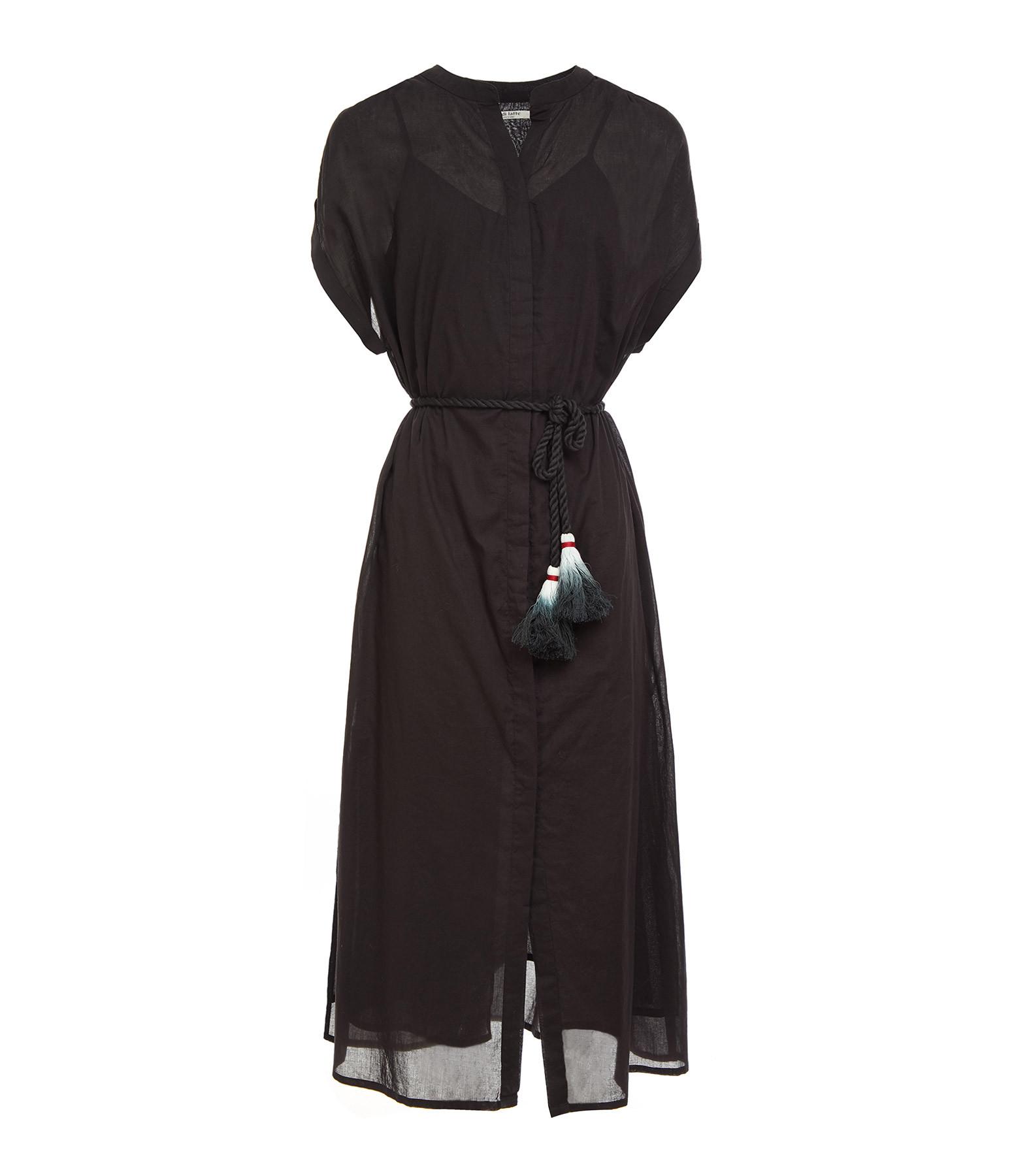 MARE DI LATTE - Robe Helena Coton Noir