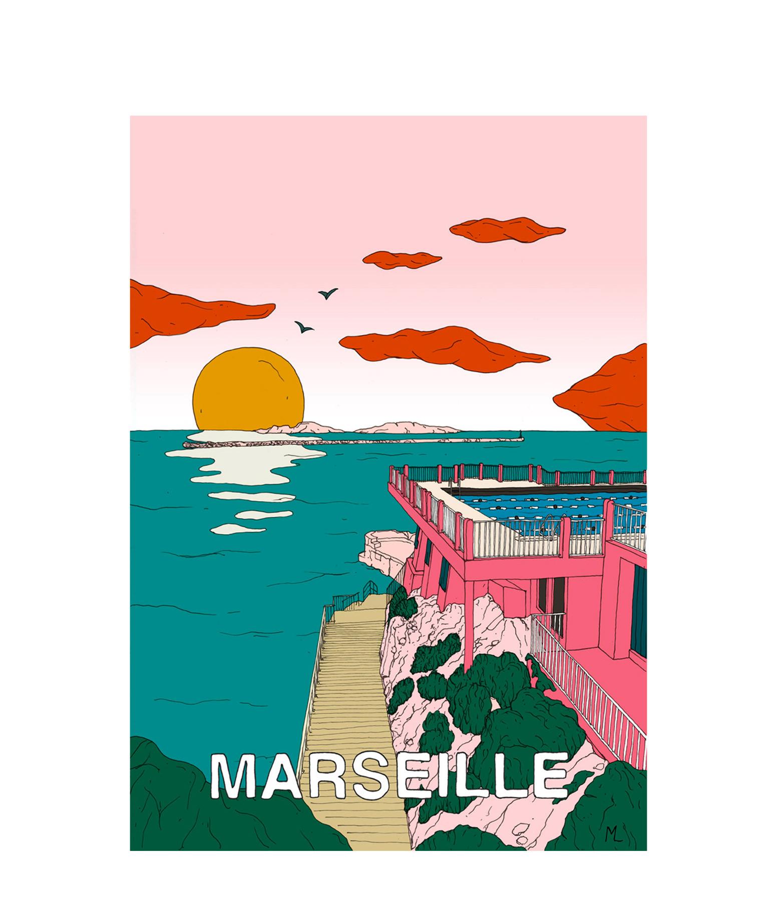 MAISON SARAH LAVOINE - Affiche Marseille 30x40cm