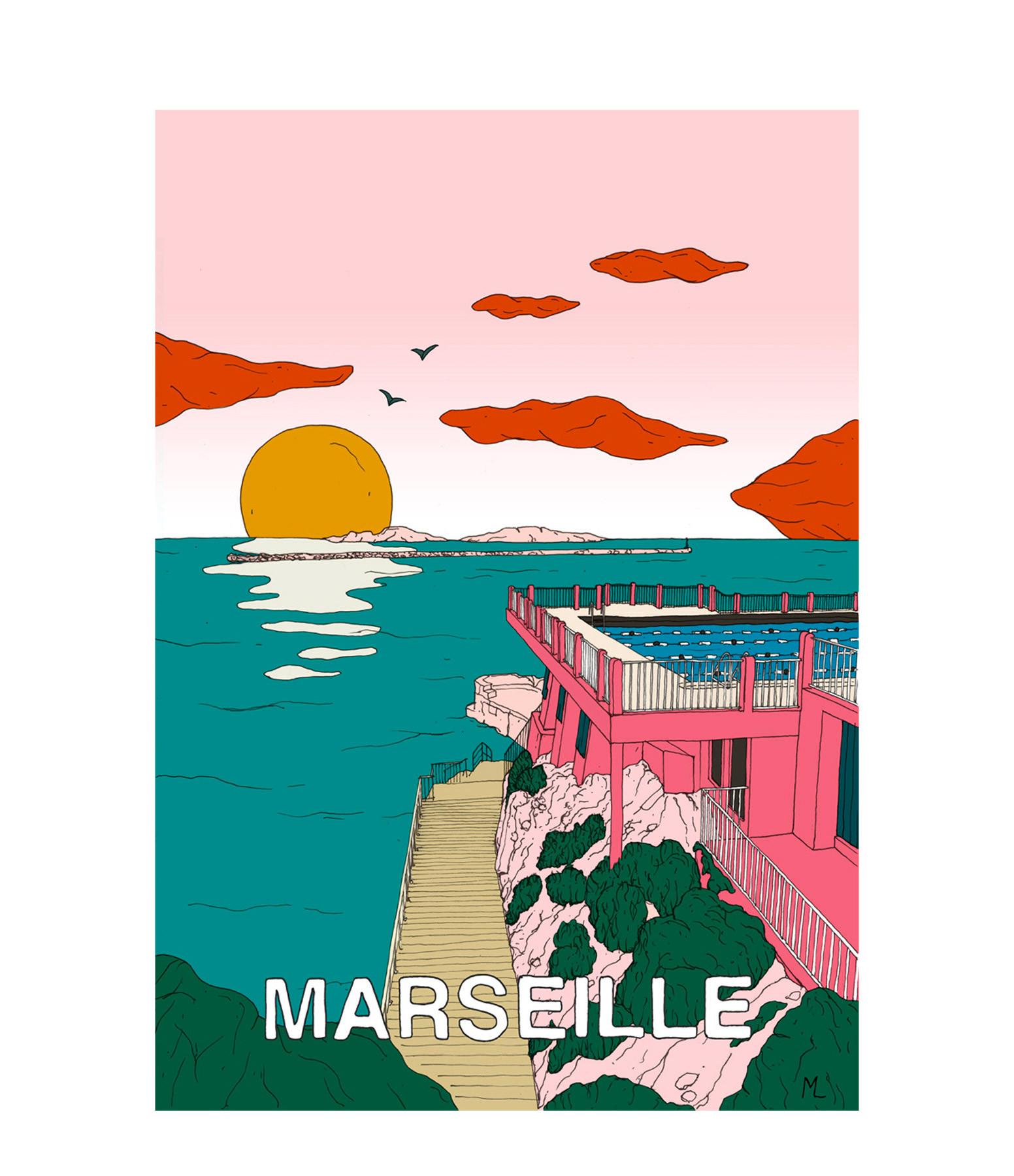 MAISON SARAH LAVOINE - Affiche Marseille 50x70cm