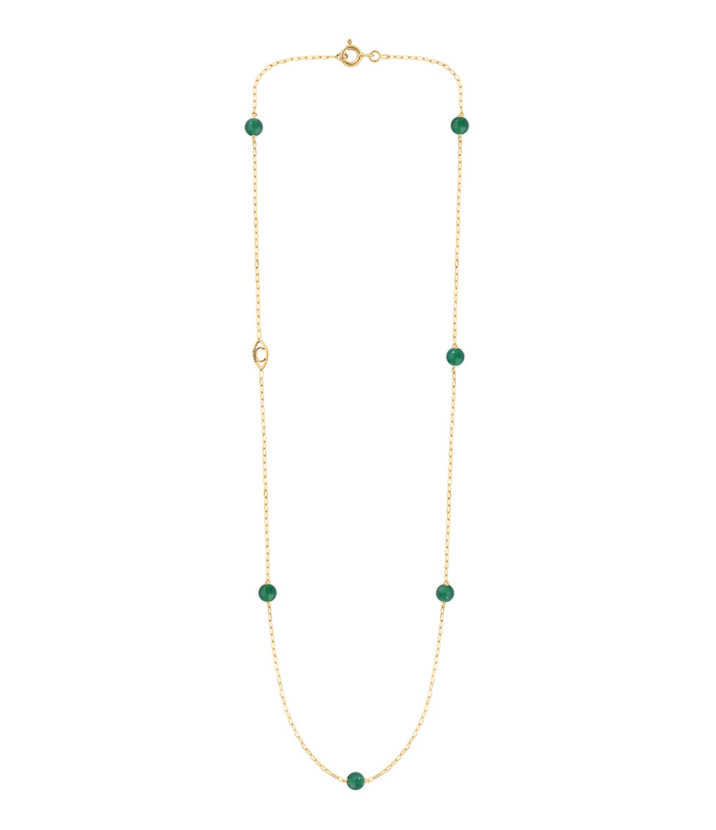 CHARLET - Collier Massilia Agate Verte