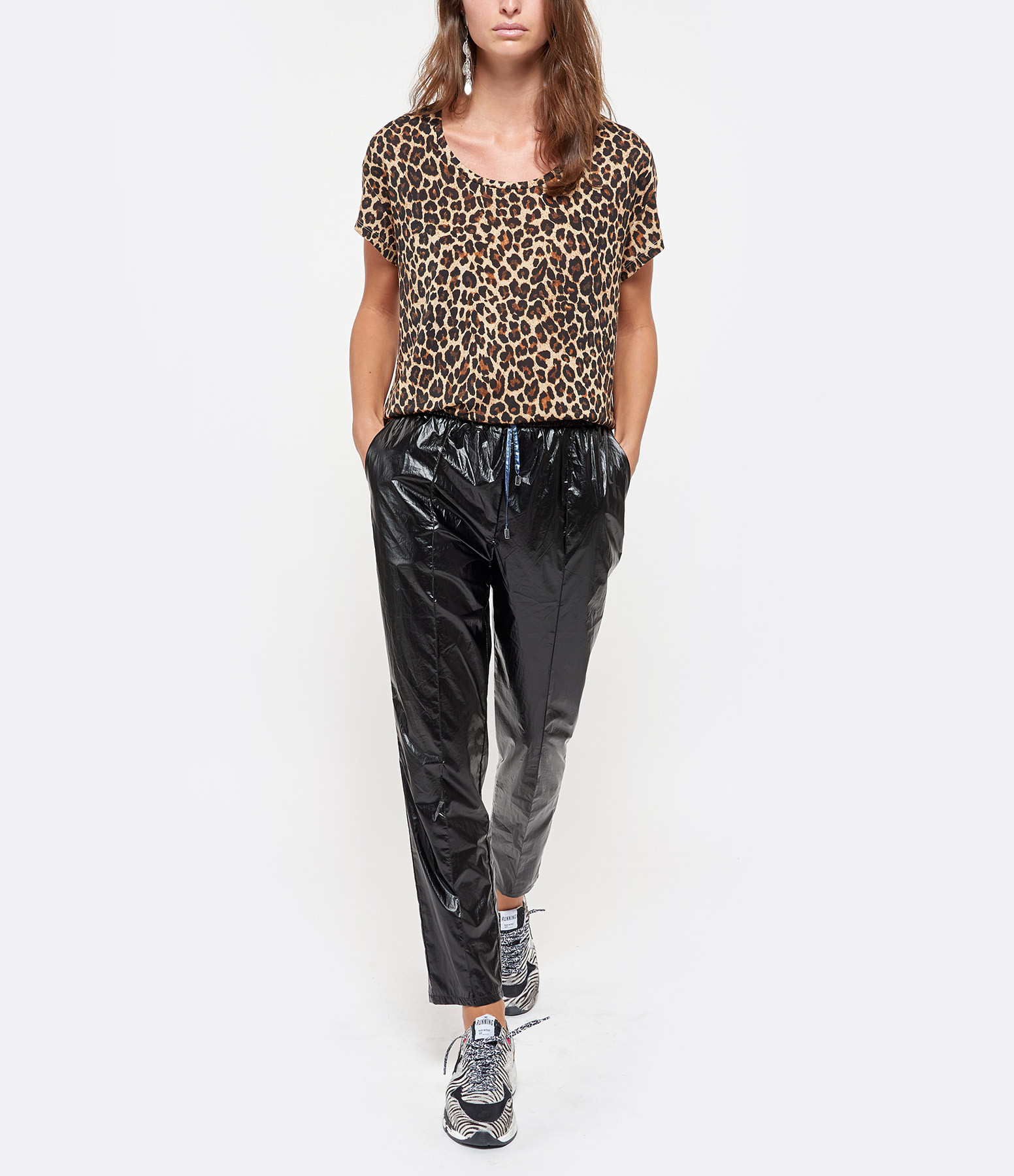 MES DEMOISELLES - Pantalon Clémenceau Noir Bleu