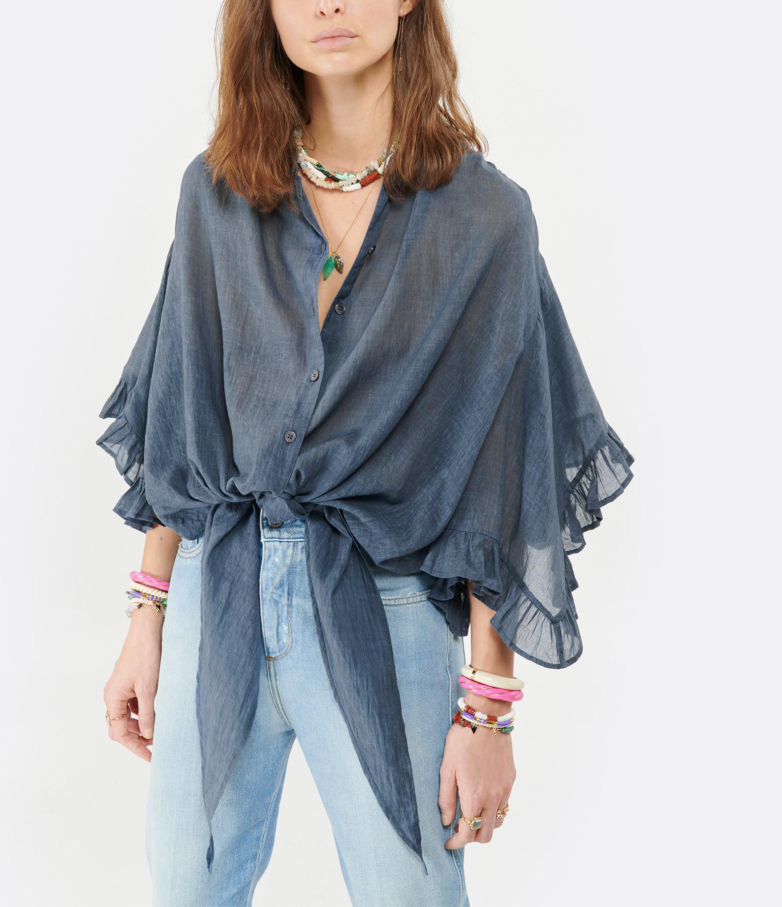 MES DEMOISELLES - Chemise Élégante Coton Bleu