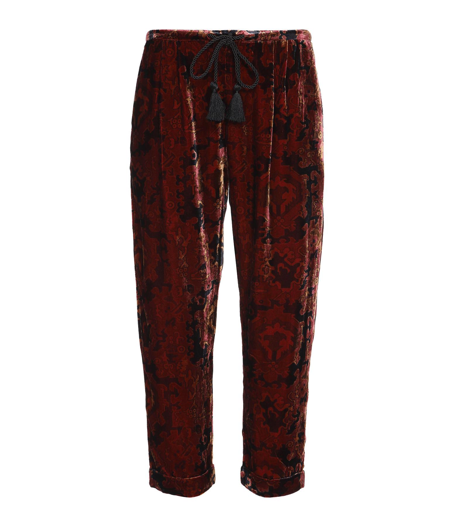MES DEMOISELLES - Pantalon Abbas Imprimé Rouge Baie