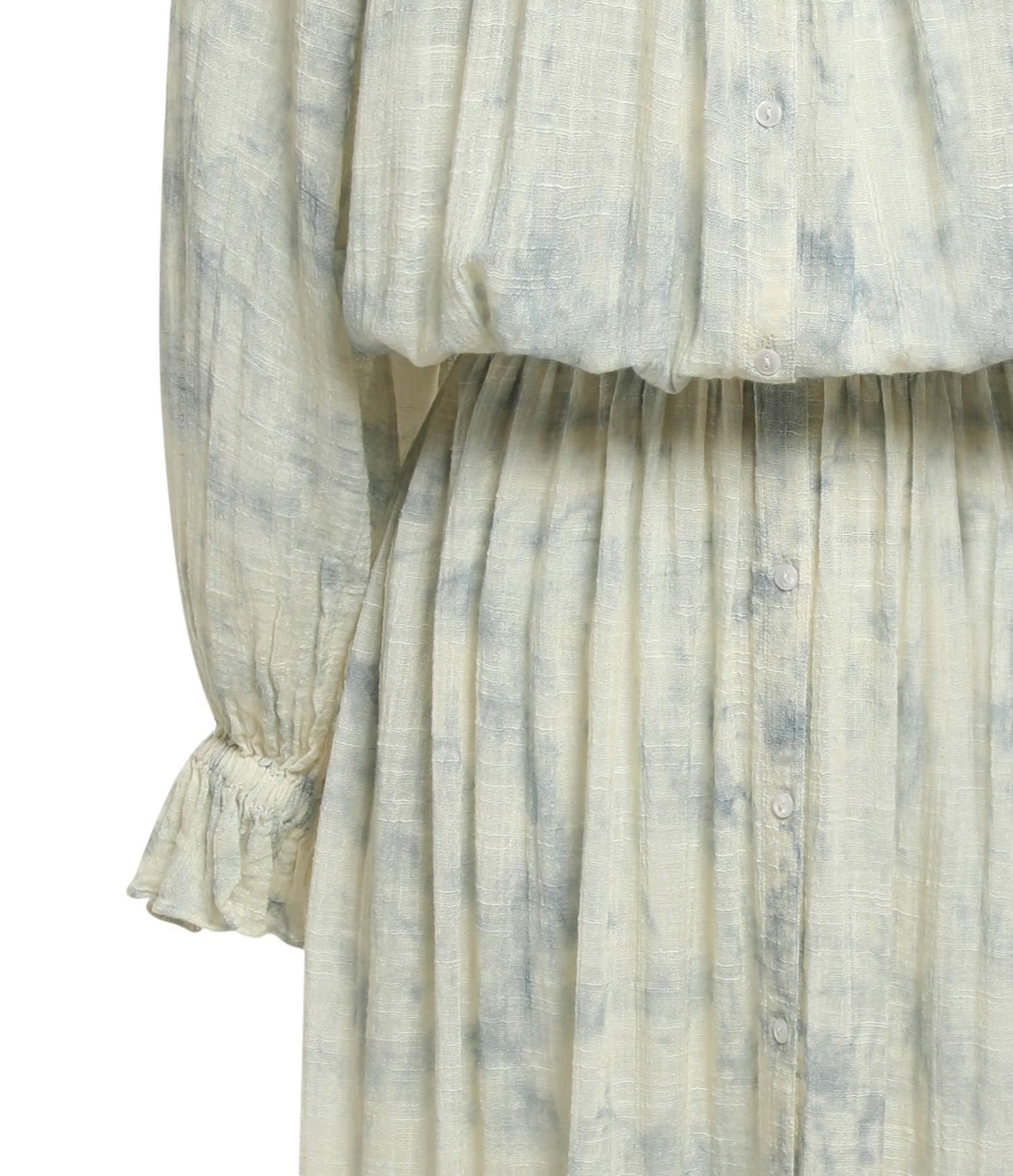 MES DEMOISELLES - Robe Volante Coton Bleu Ice