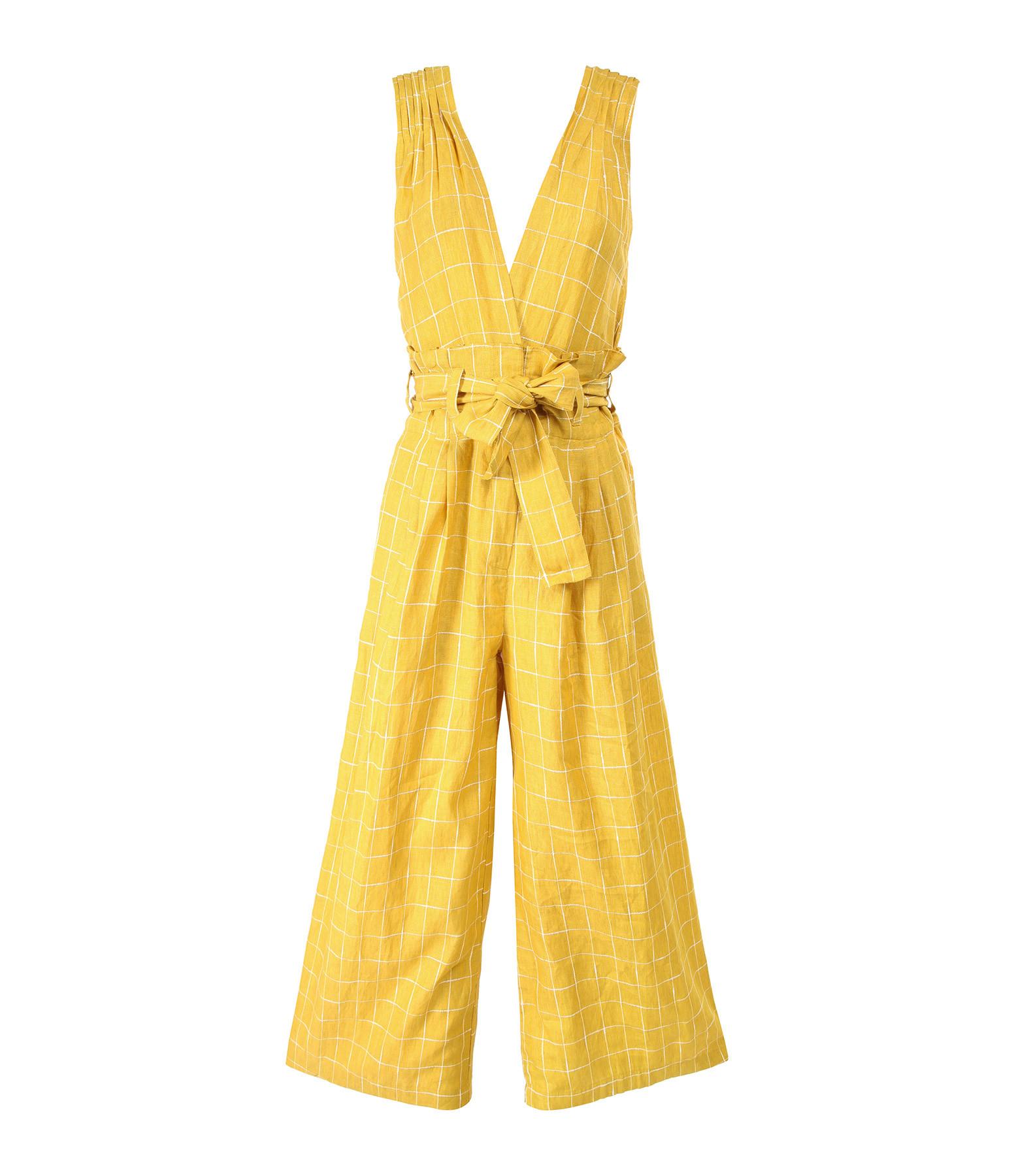 MES DEMOISELLES - Combinaison Pantalon Cancun Lin Jaune