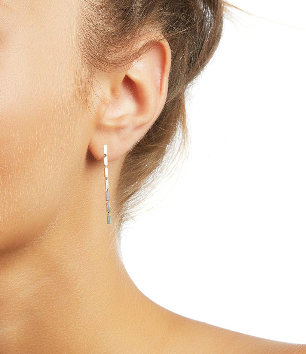 MAGGOOSH - Boucles d'oreilles Disco Short Argent