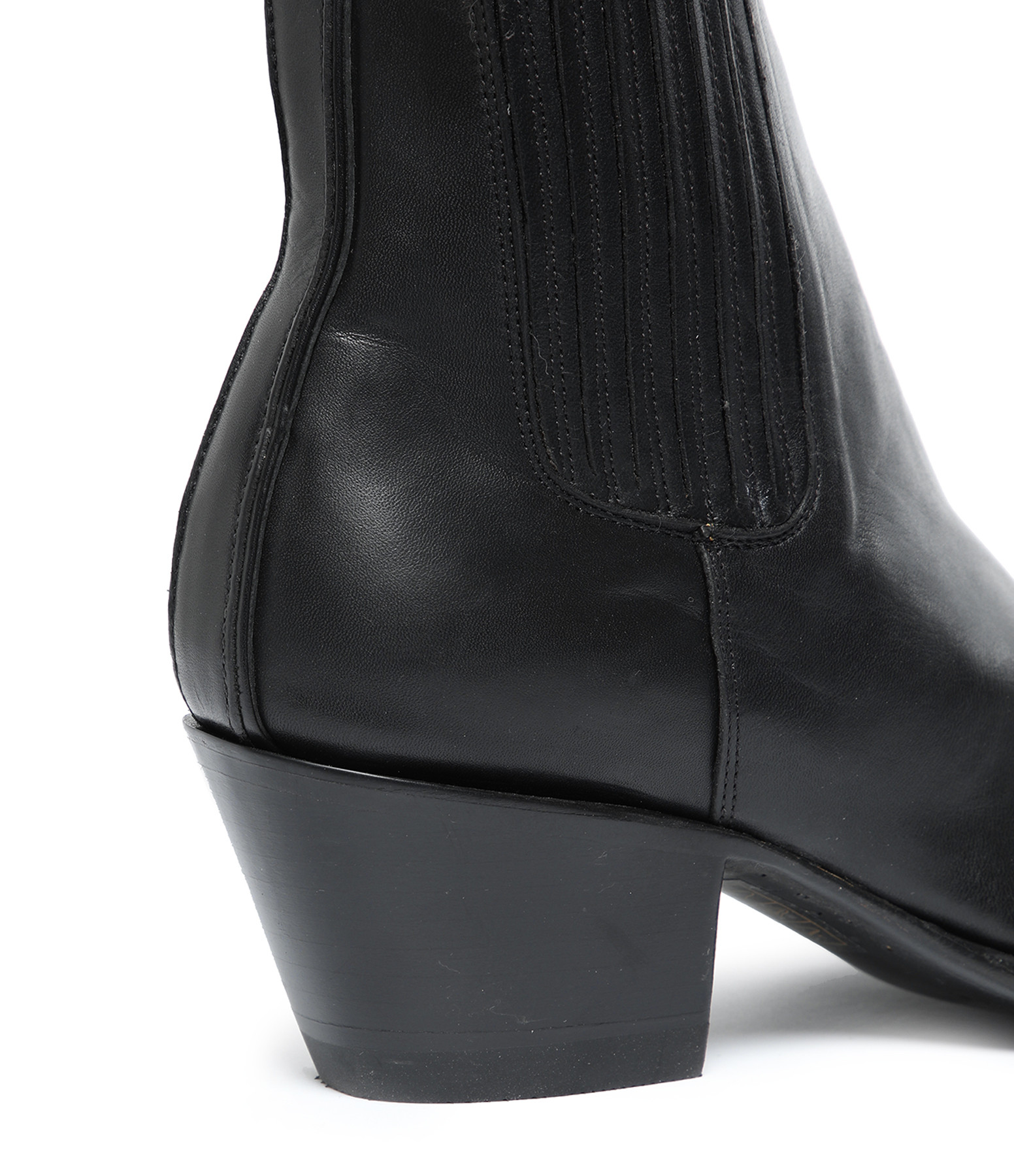 MEXICANA - Bottines Estudio Ranchero Coco Cuir Noir