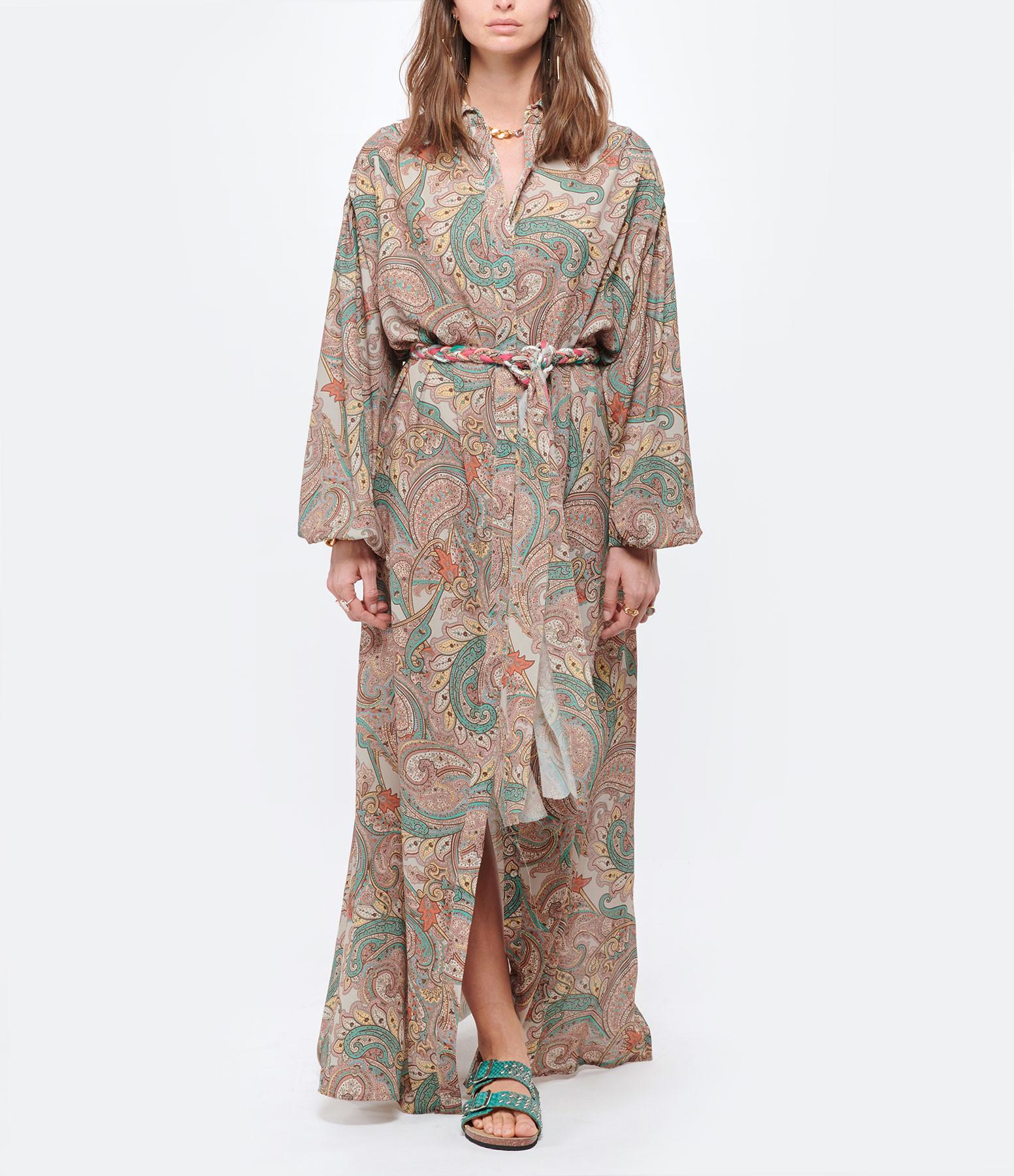 MAISON HAUSSMANN - Robe Crêpe Gwalior Sand Imprimé