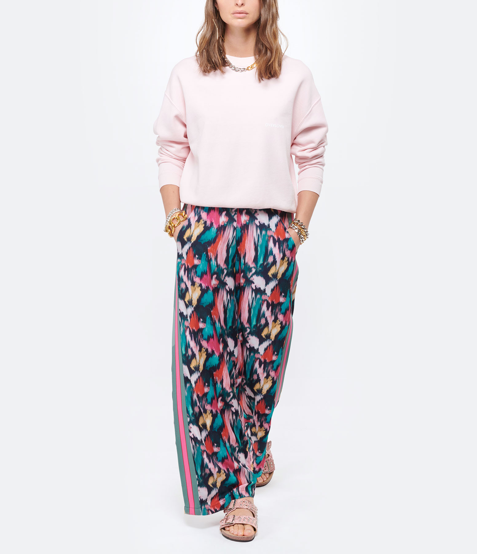 MAISON HAUSSMANN - Pantalon Large Crêpe Bohol Imprimé