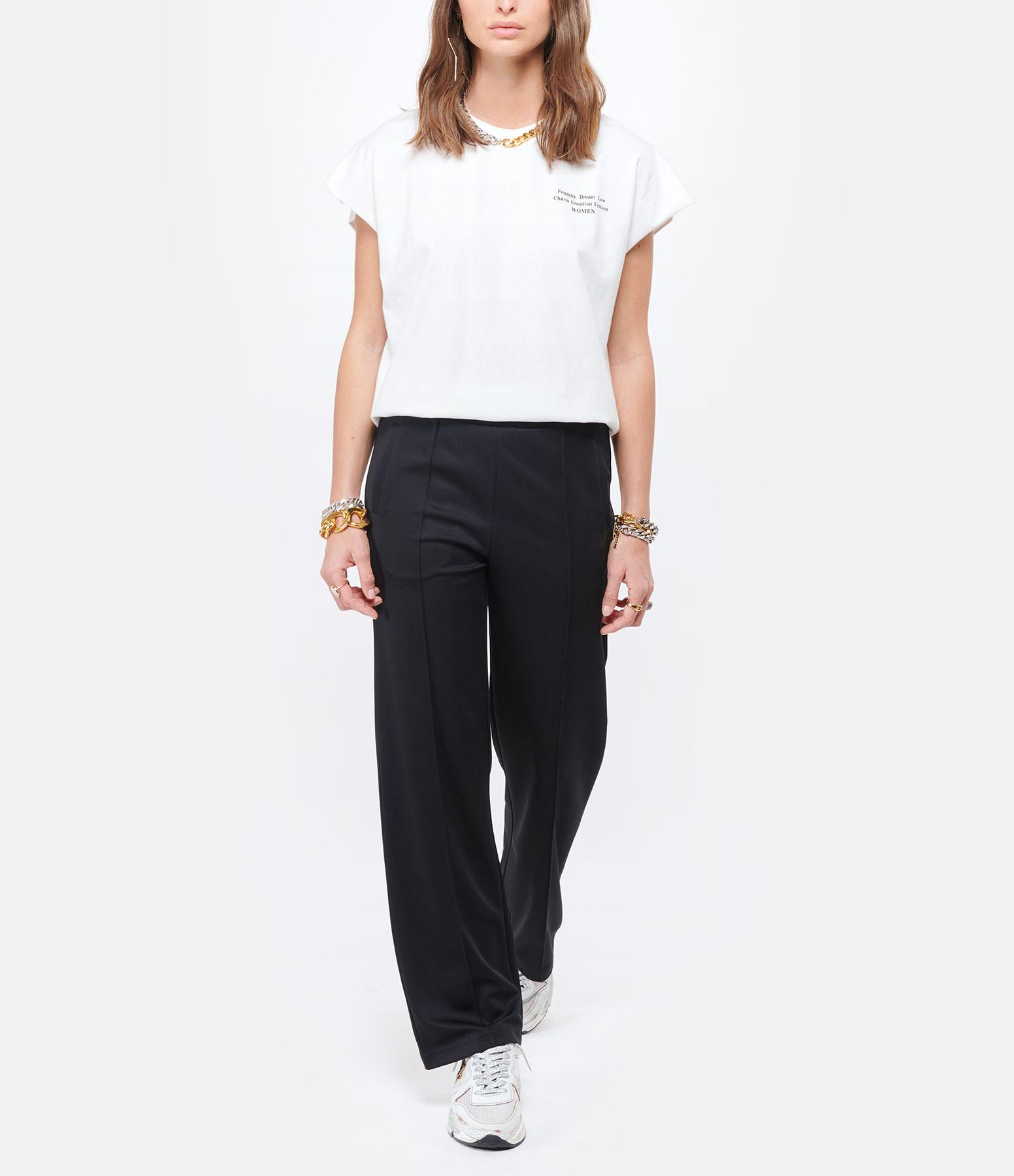 MAISON HAUSSMANN - Tee-shirt Oversize Jersey Ivoire
