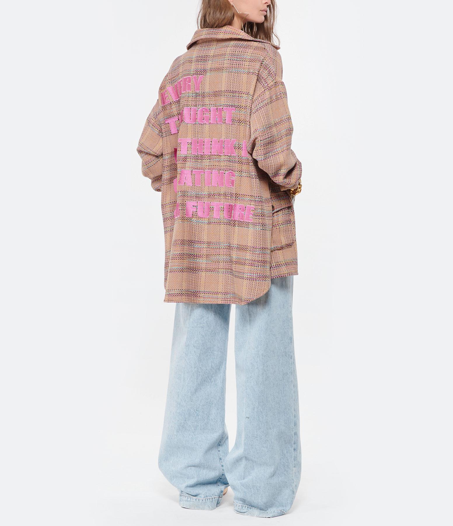 MAISON HAUSSMANN - Surchemise Tweed Flanelle Carreaux Multicolore