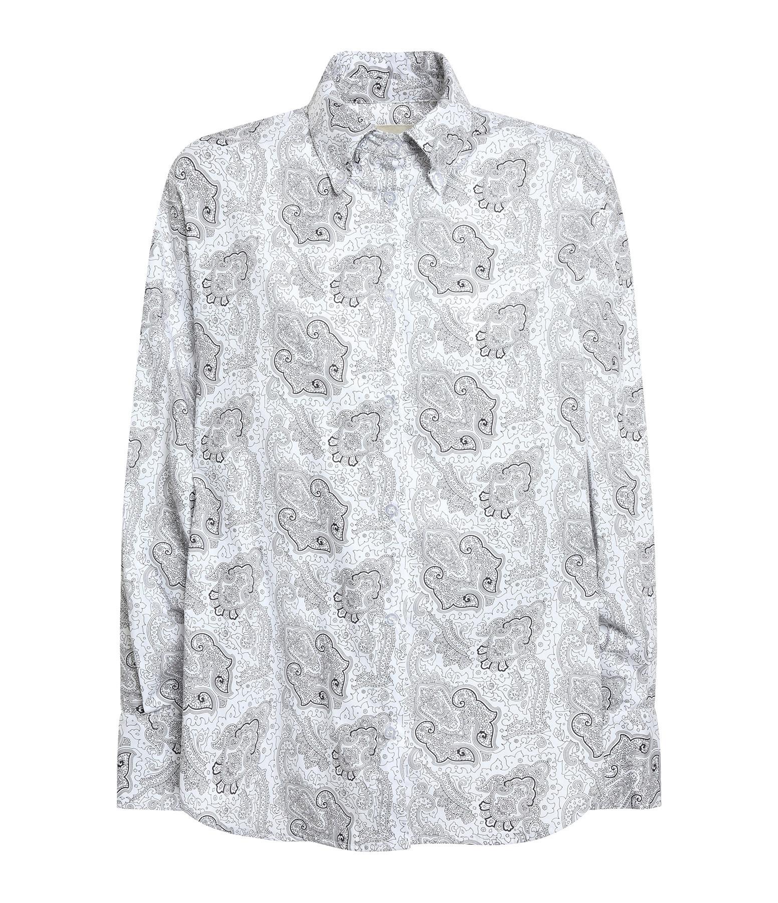 MAISON HAUSSMANN - Chemise Coton Imprimé Bandana Blanc