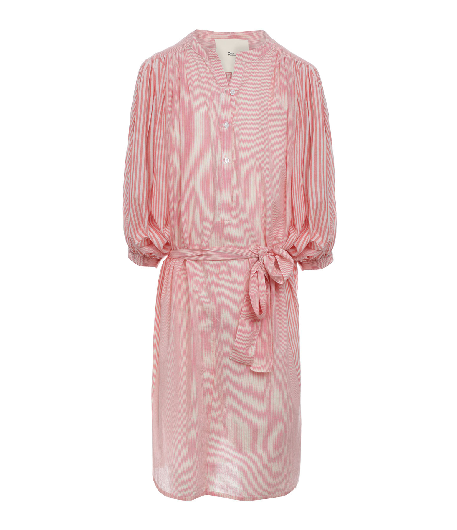 MAISON HAUSSMANN - Robe Coton Rayures Corail