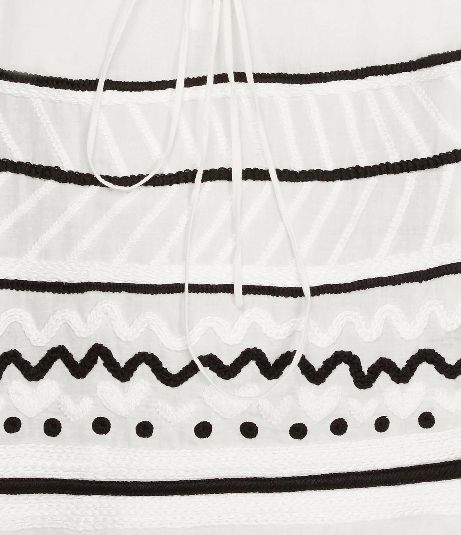 MII - Tunique Céramique Coton Noir Blanc