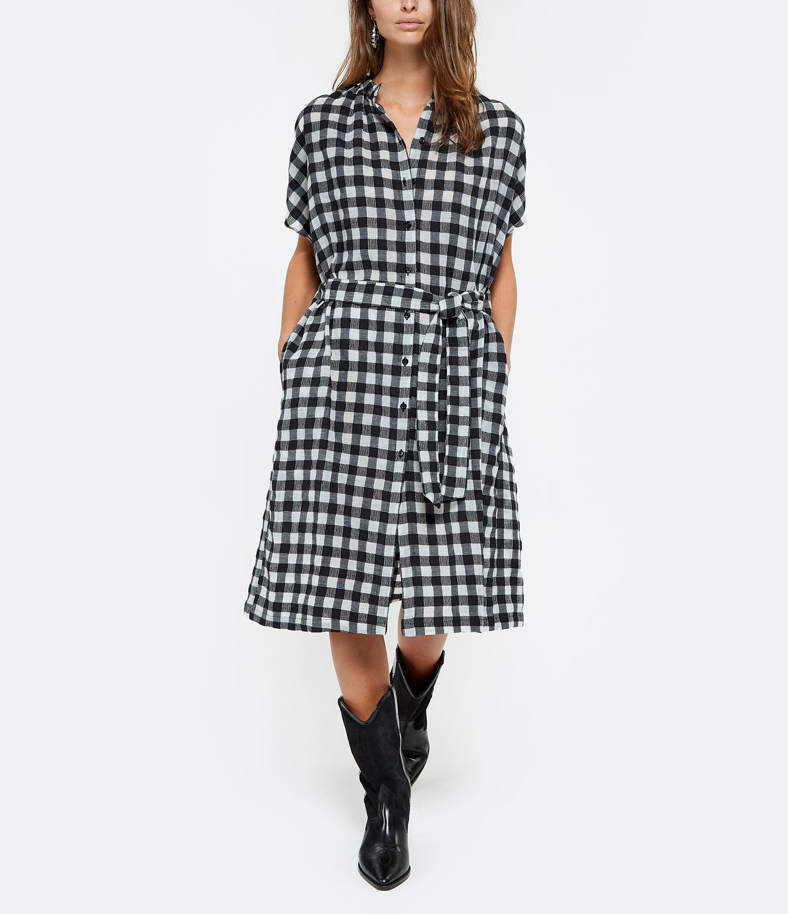 MII - Robe Oversize Vichy Noir