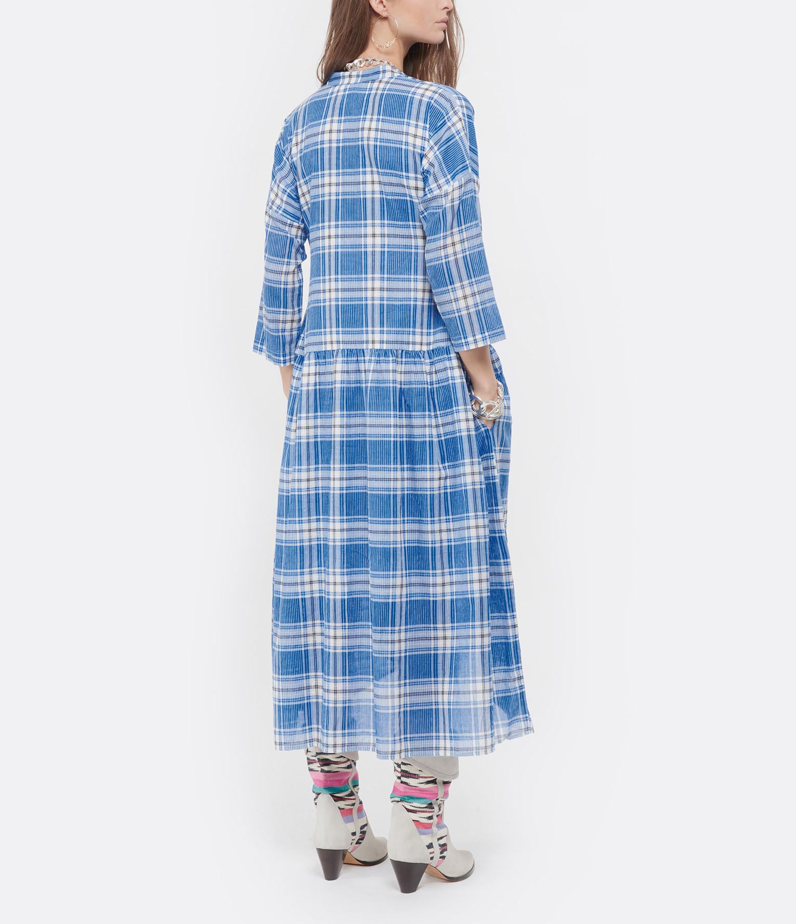 MII - Robe Tara Coton Carreaux Bleu
