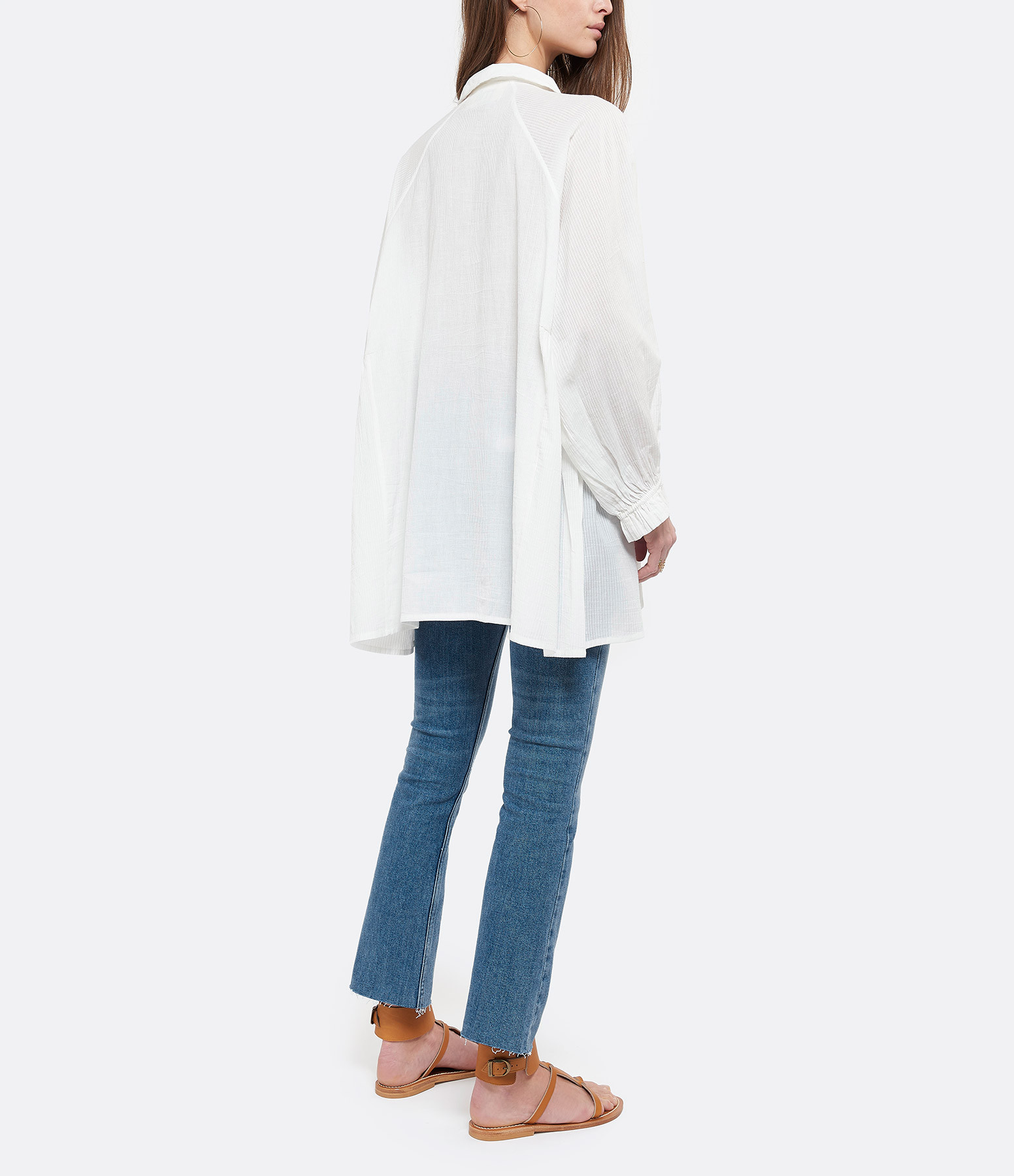 MII - Tunique Unie Coton Blanc