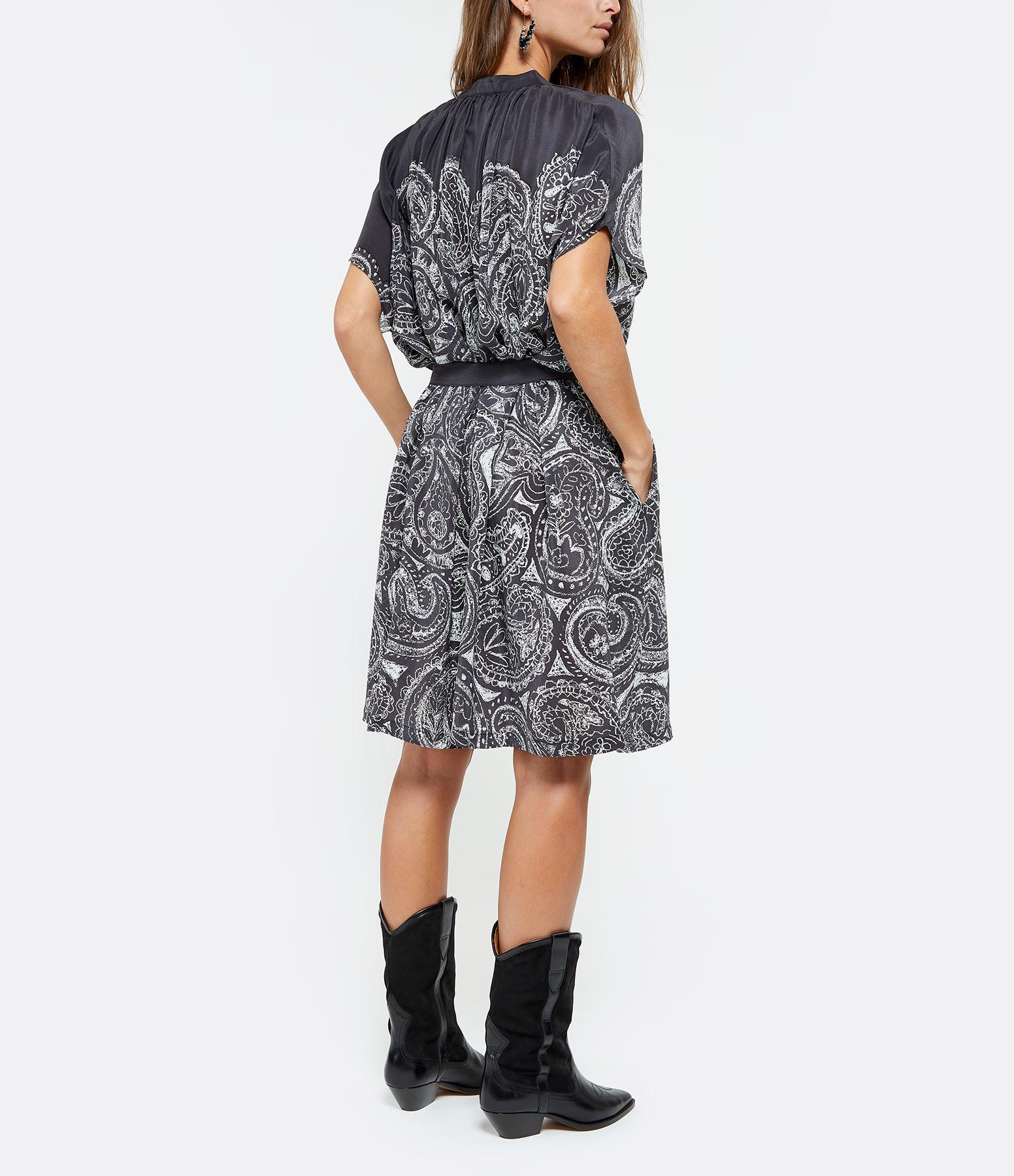 MII - Robe Oversize Imprimé Paisley Noir