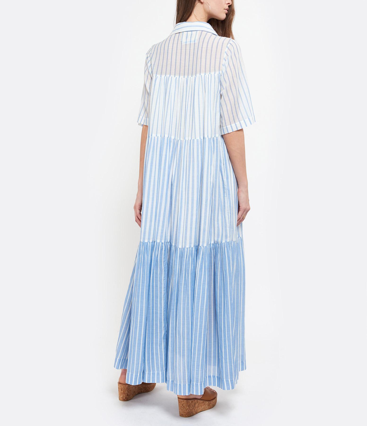 MII - Robe Rayures Coton Bleu