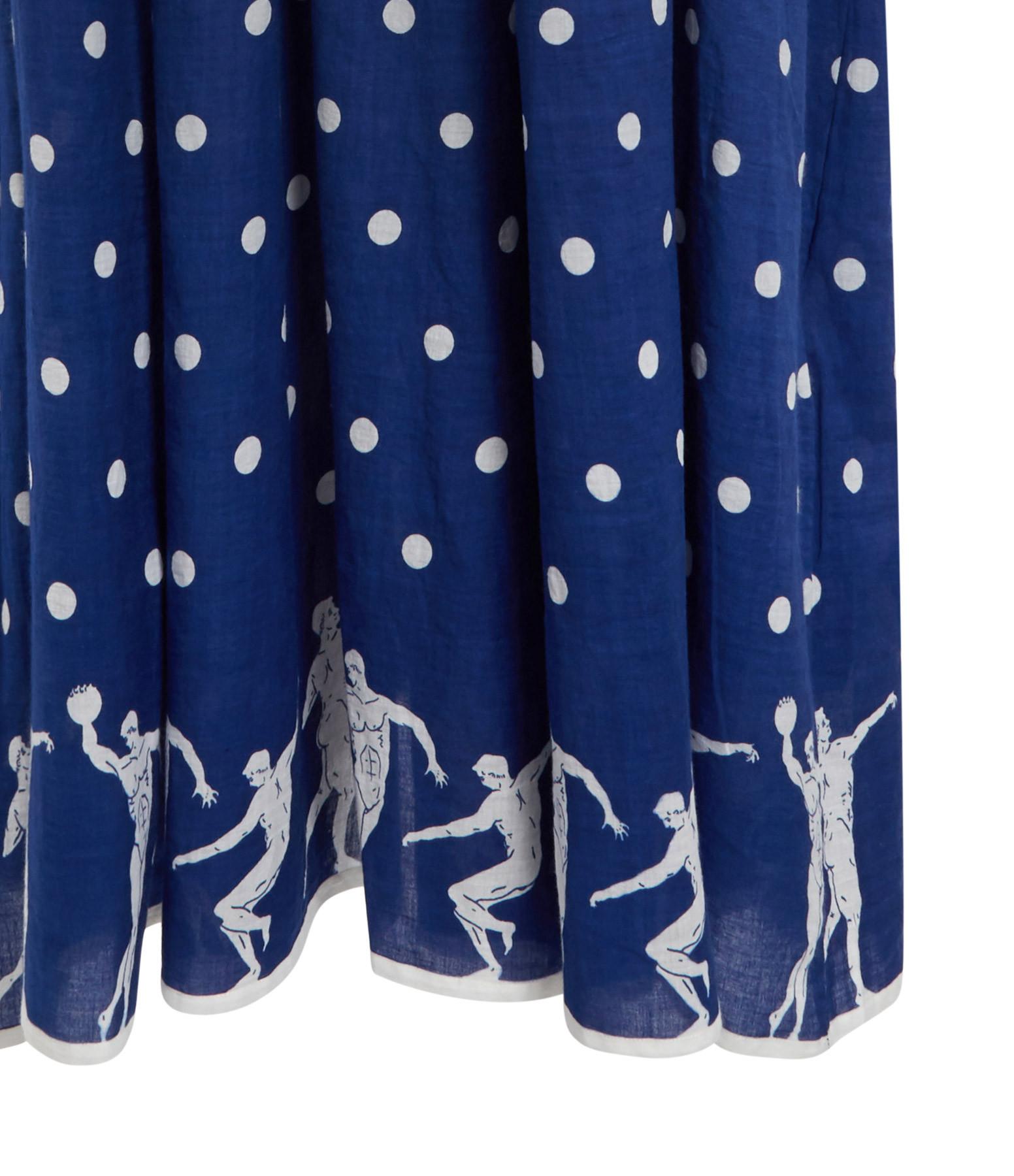 MII - Robe Pois Coton Bleu