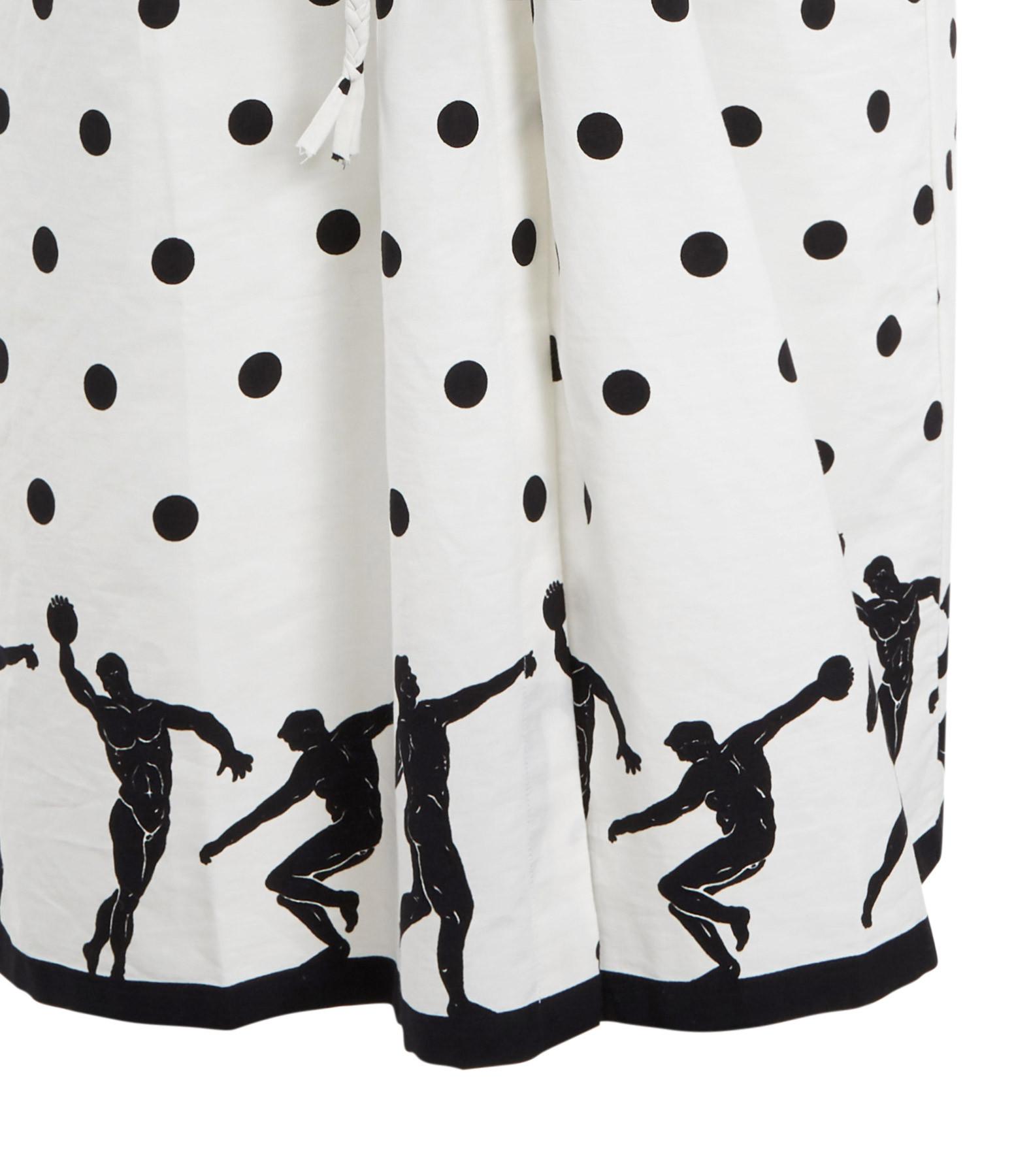 MII - Robe Pois Coton Noir Blanc