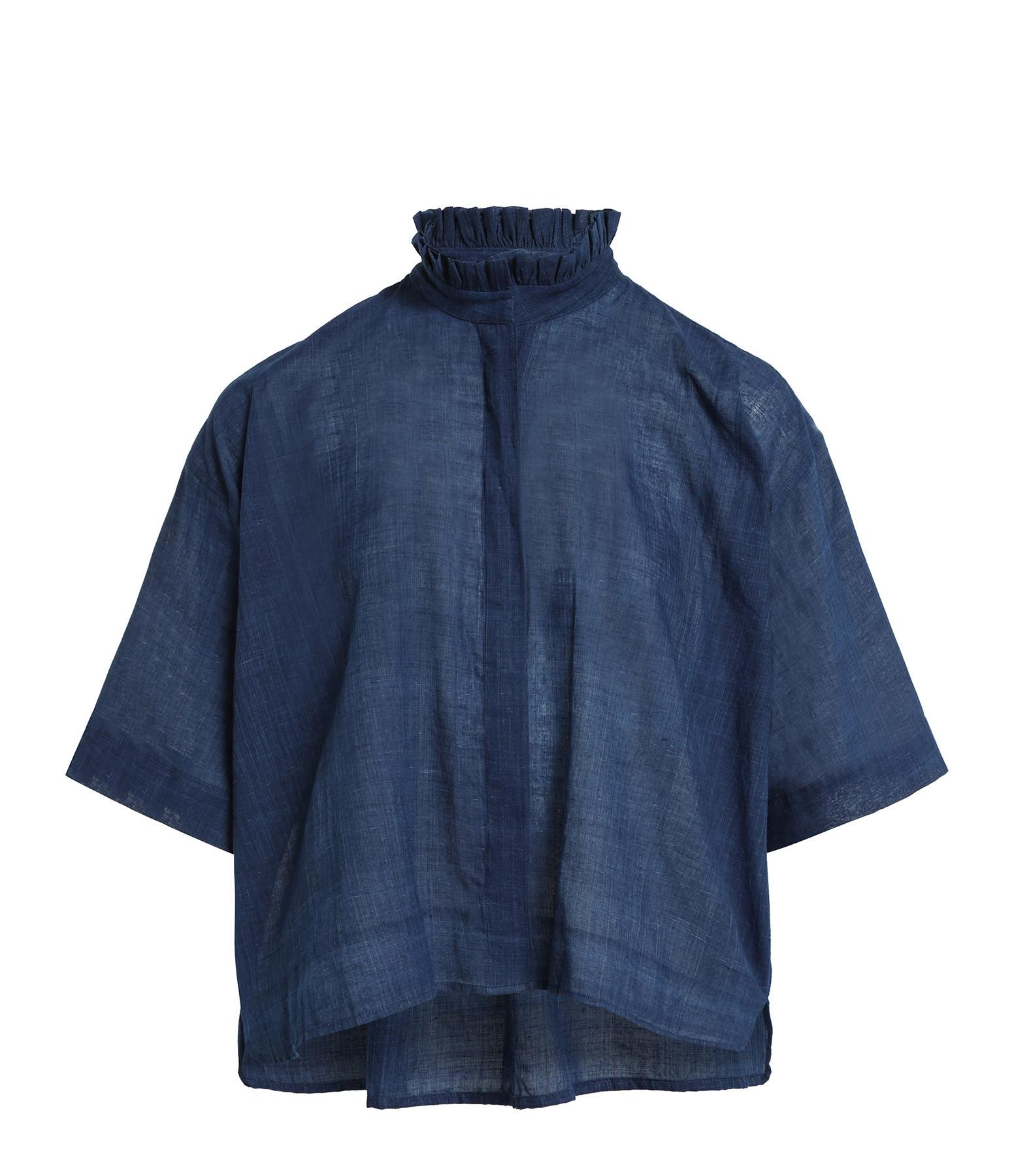 MII - Blouse Natural Coton Indigo