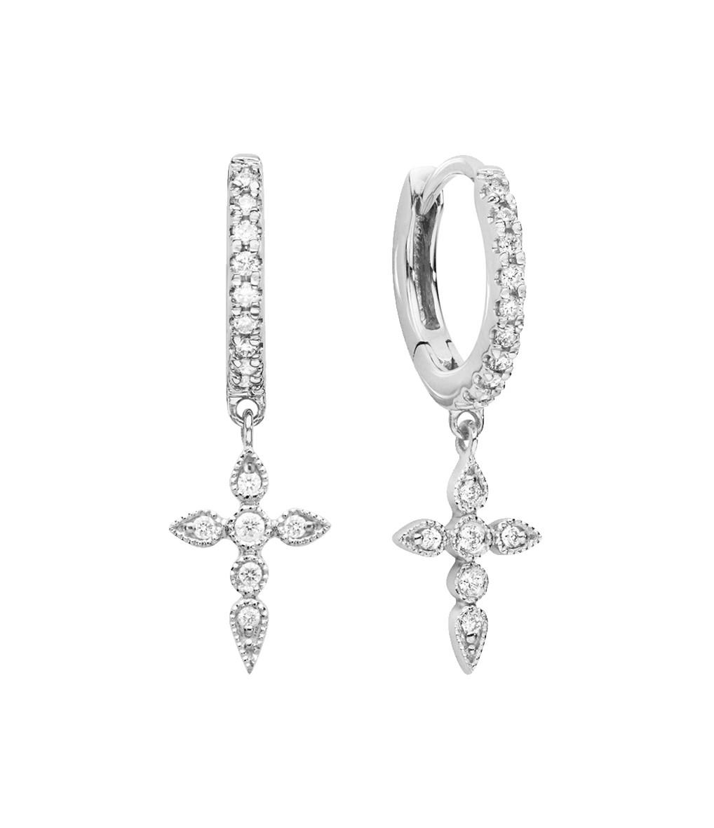 STONE PARIS - Mini Créole Céleste Or Diamants (vendue à l'unité)