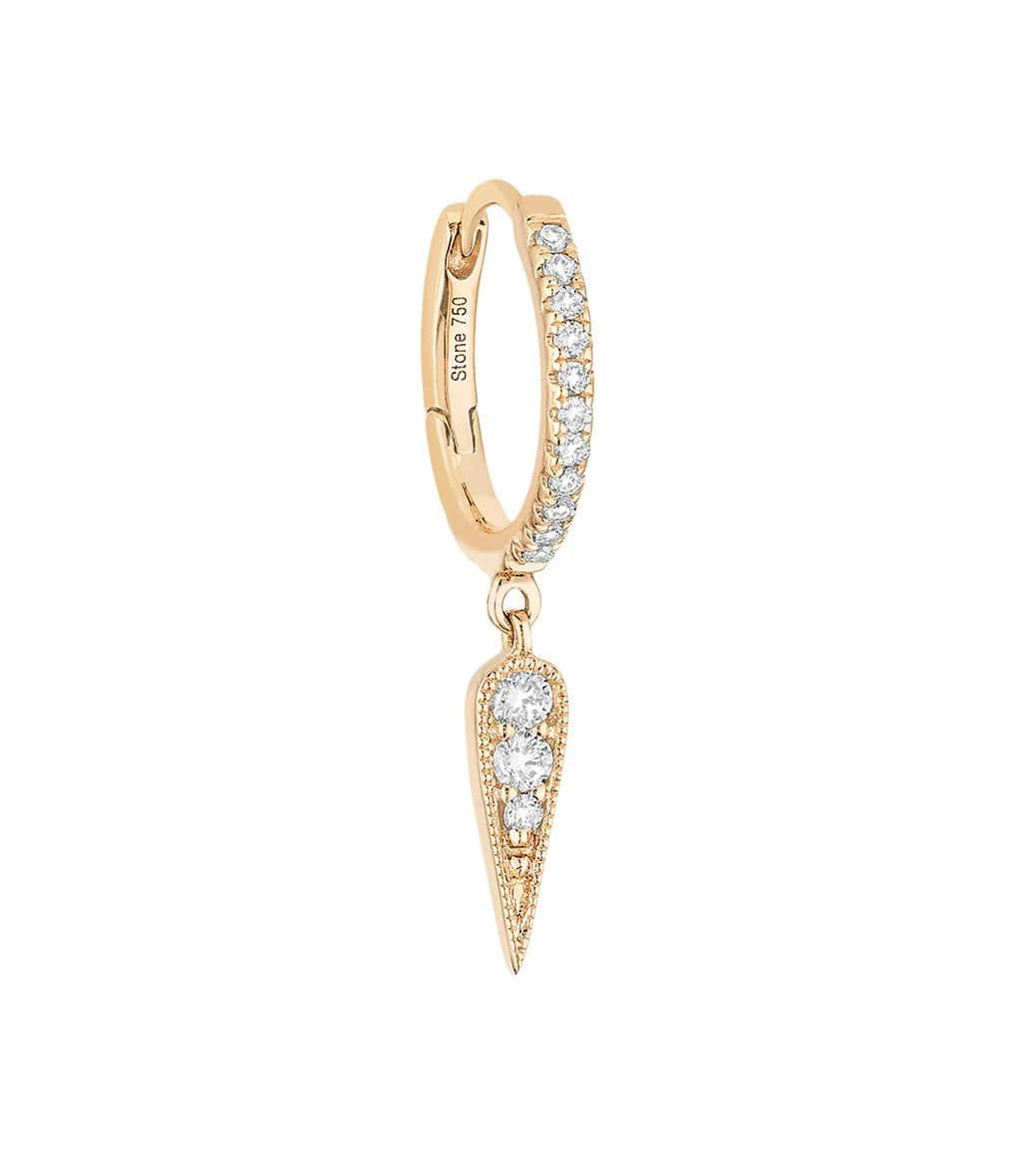 STONE PARIS - Mini Créole Fleurs du Mal Or Diamants (vendue à l'unité)