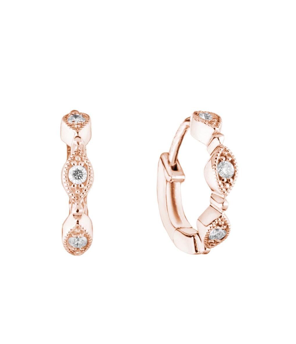 STONE PARIS - Mini Créole Yasmine Or Diamants (vendue à l'unité)
