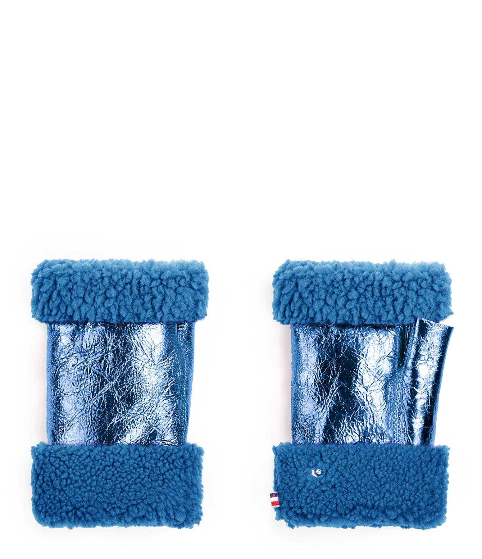 TOASTIES - Mitaines Bleu Métallique