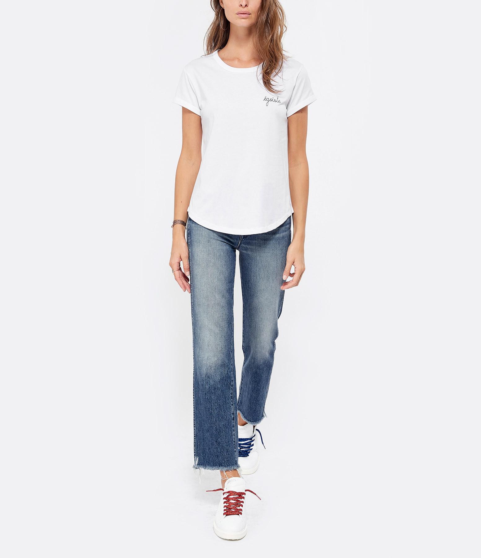 MAISON LABICHE - Tee-shirt Egoïste Blanc Bleu
