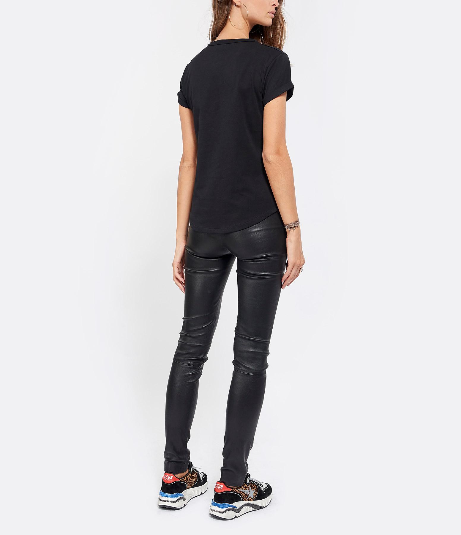 MAISON LABICHE - Tee-shirt Amour Noir Rouge