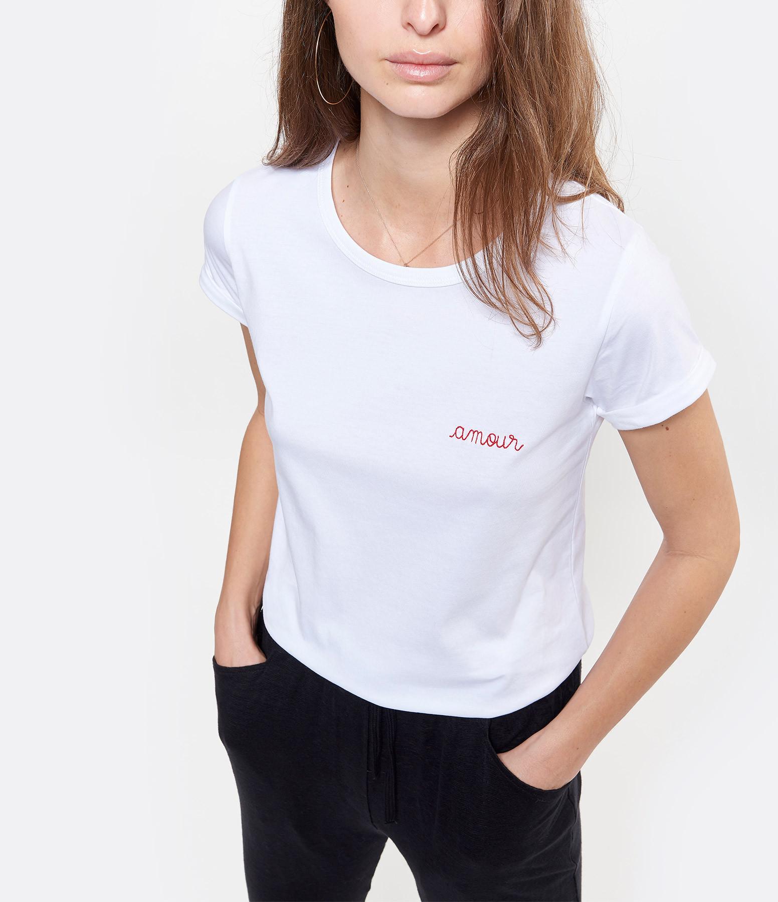 MAISON LABICHE - Tee-shirt Amour Blanc Rouge