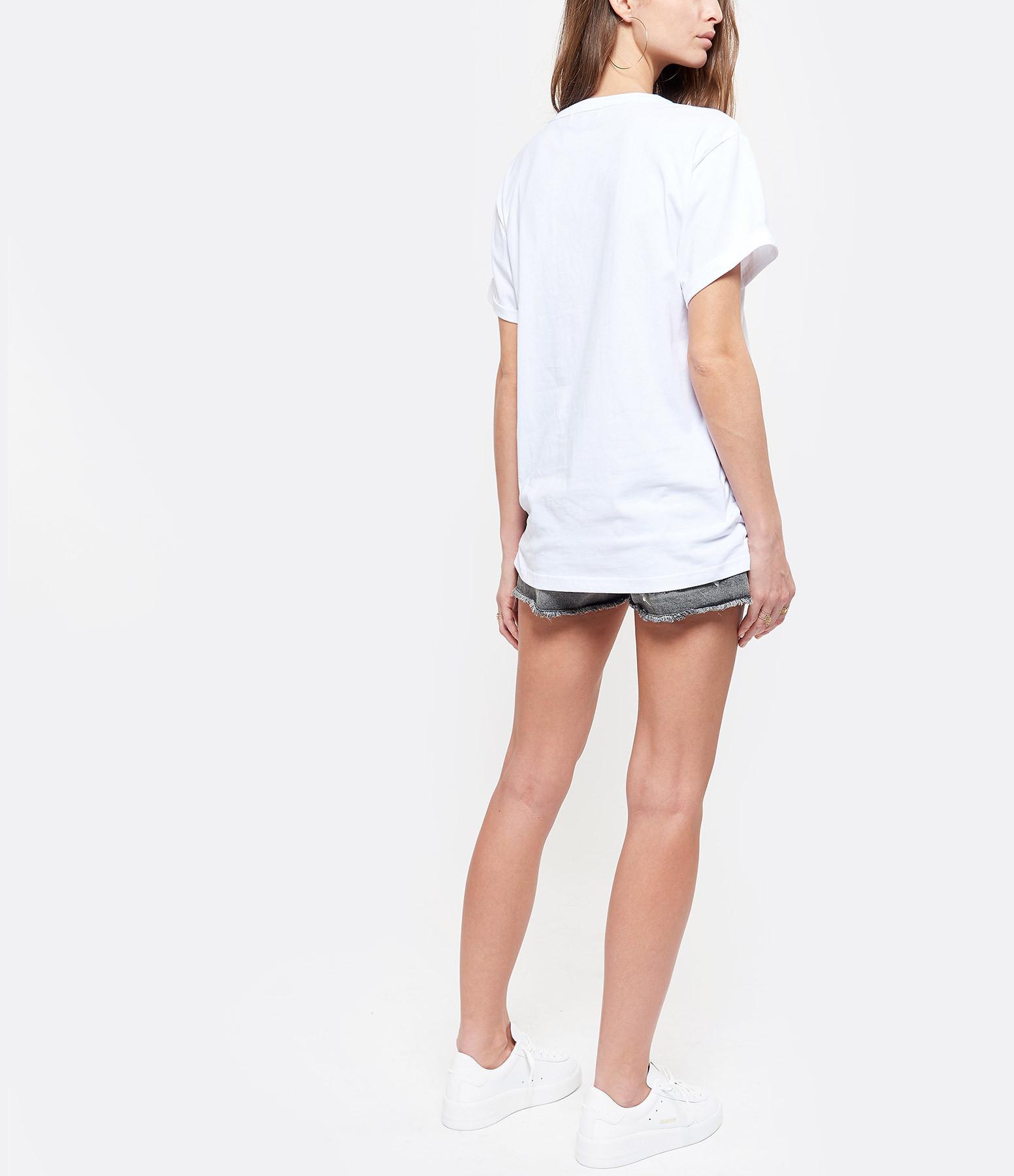 MAISON LABICHE - Tee-shirt Attrape-Coeur Coton Blanc Rouge