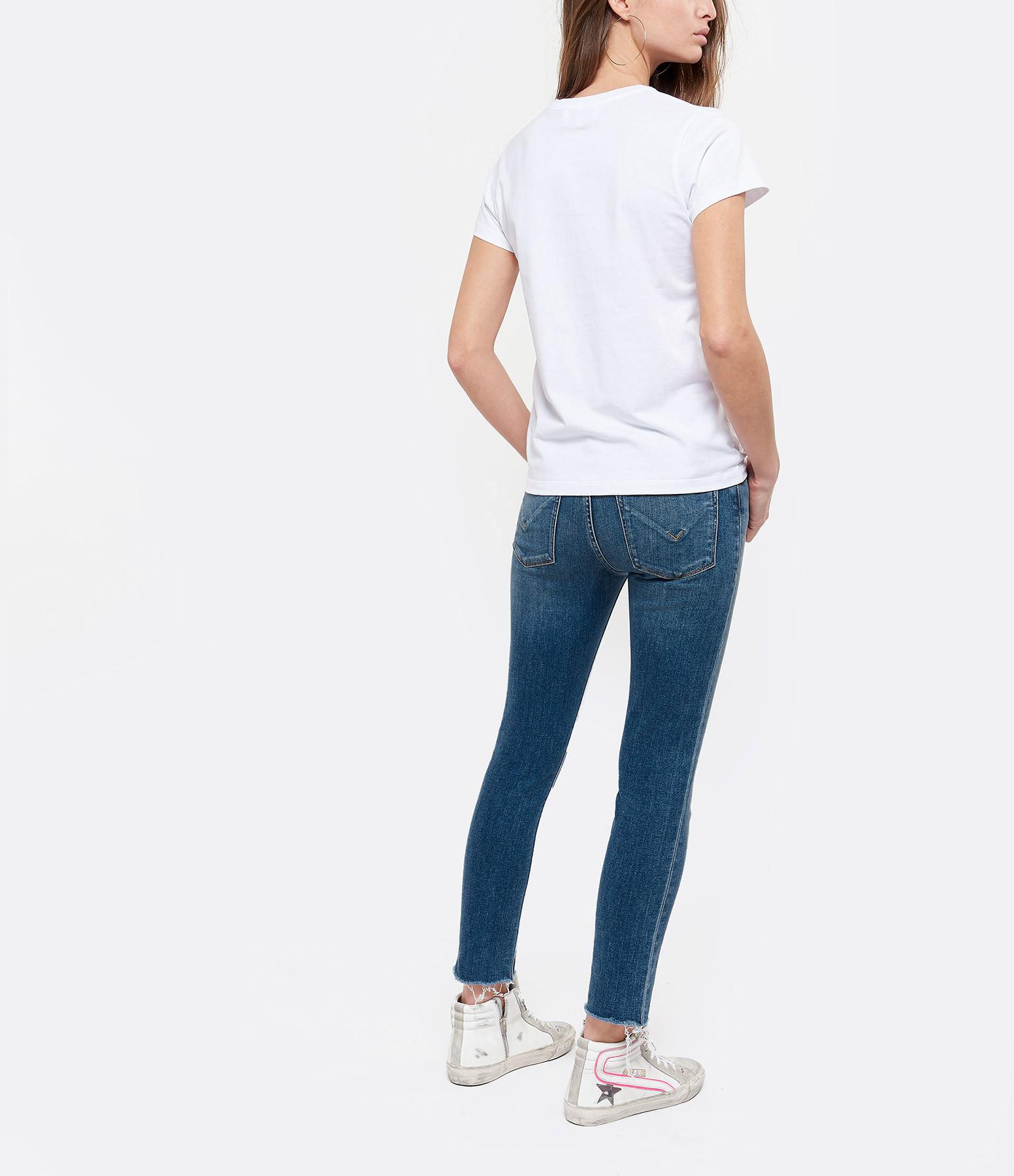 MAISON LABICHE - Tee-shirt Boyfriend Blondie Coton Blanc Noir