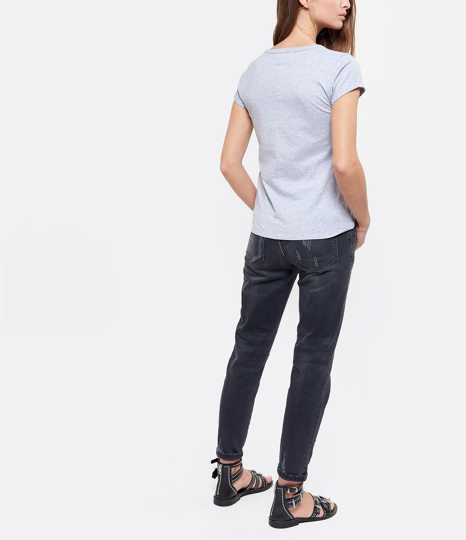 MAISON LABICHE - Tee-shirt Rêver, Aimer Coton Gris Chiné Bleu