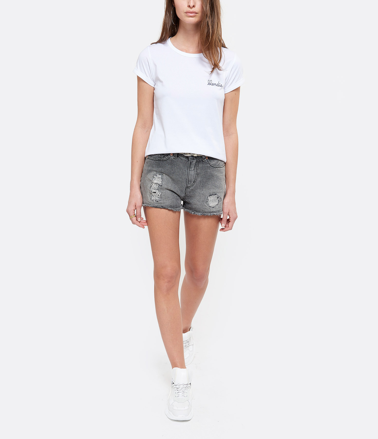 MAISON LABICHE - Tee-shirt Blondie Blanc Bleu
